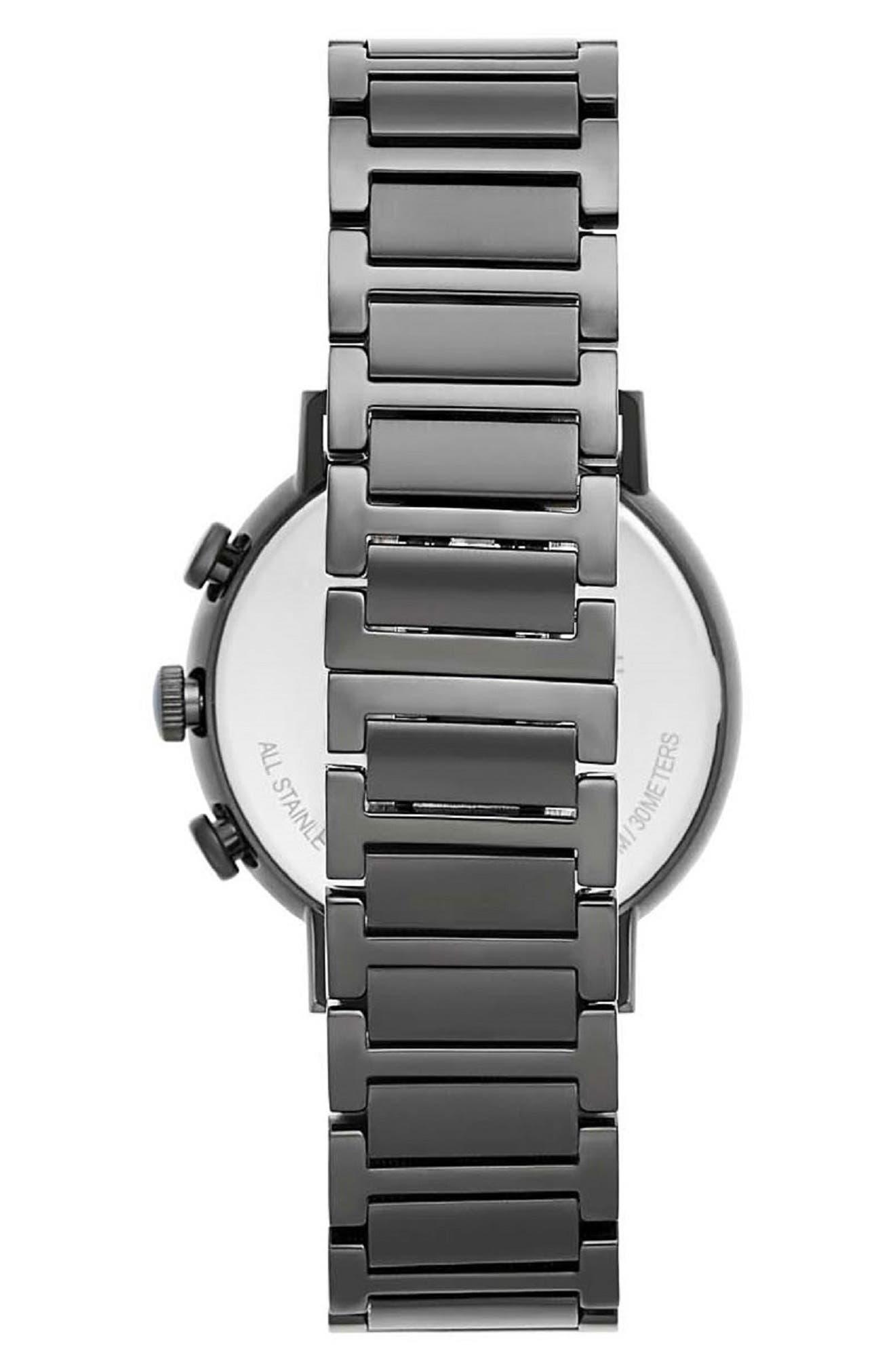 Griffith Chronograph Bracelet Watch, 43mm,                             Alternate thumbnail 2, color,                             BLACK