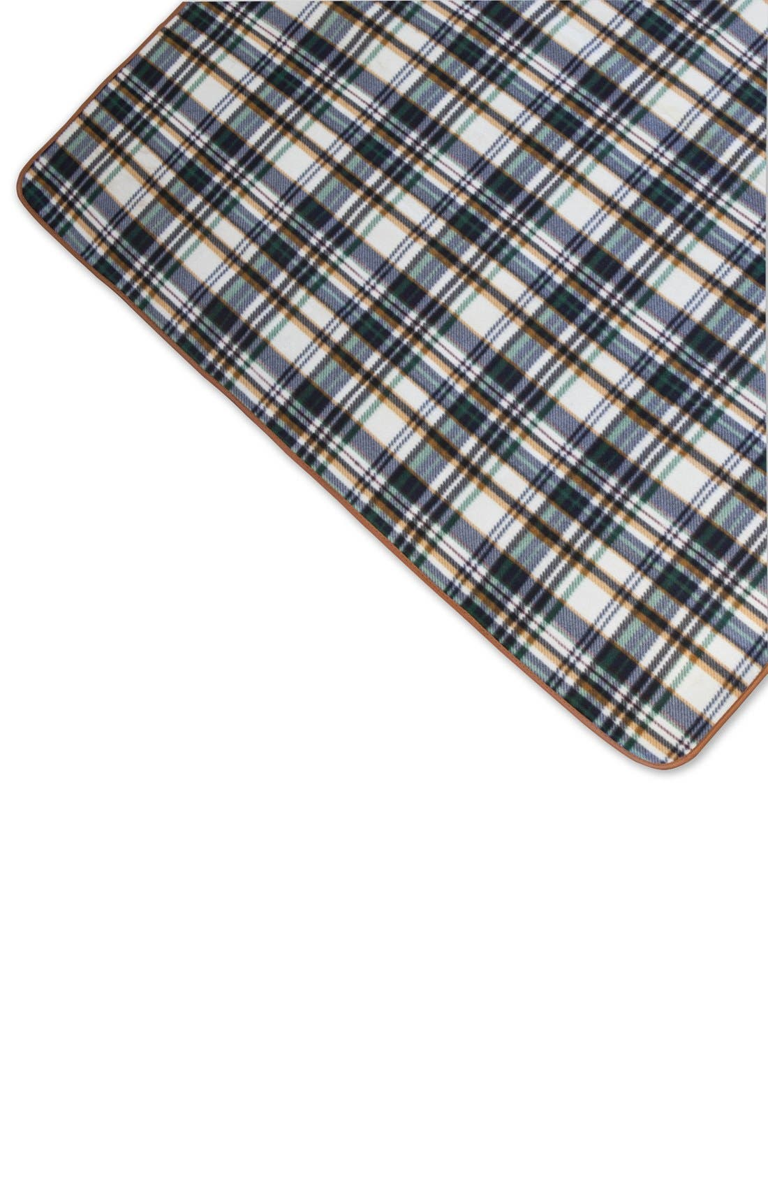 'English Plaid XL' Fold-Up Blanket Tote,                             Alternate thumbnail 3, color,                             BROWN
