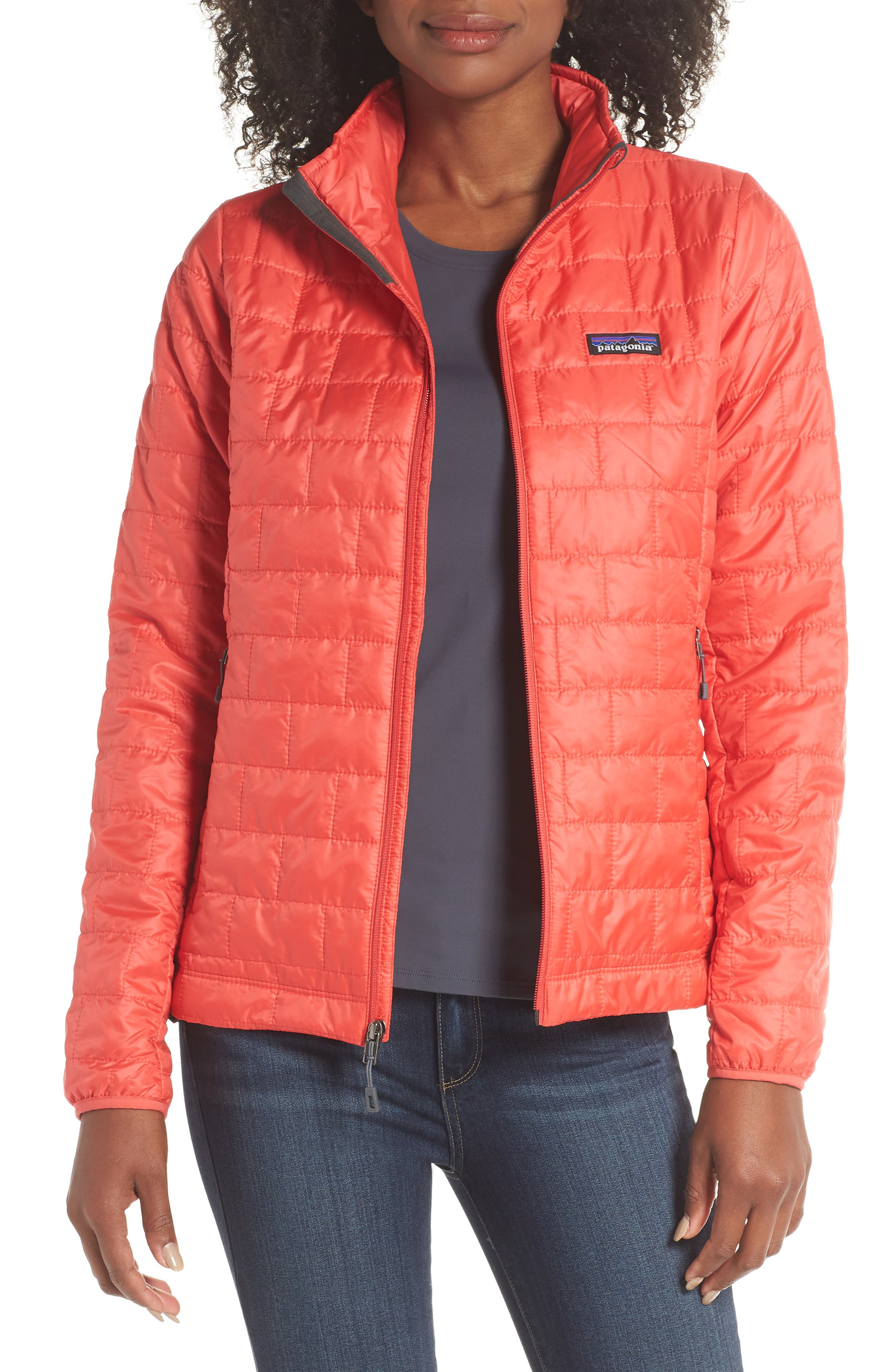 Nano Puff<sup>®</sup> Water Resistant Jacket,                         Main,                         color, TOMATO