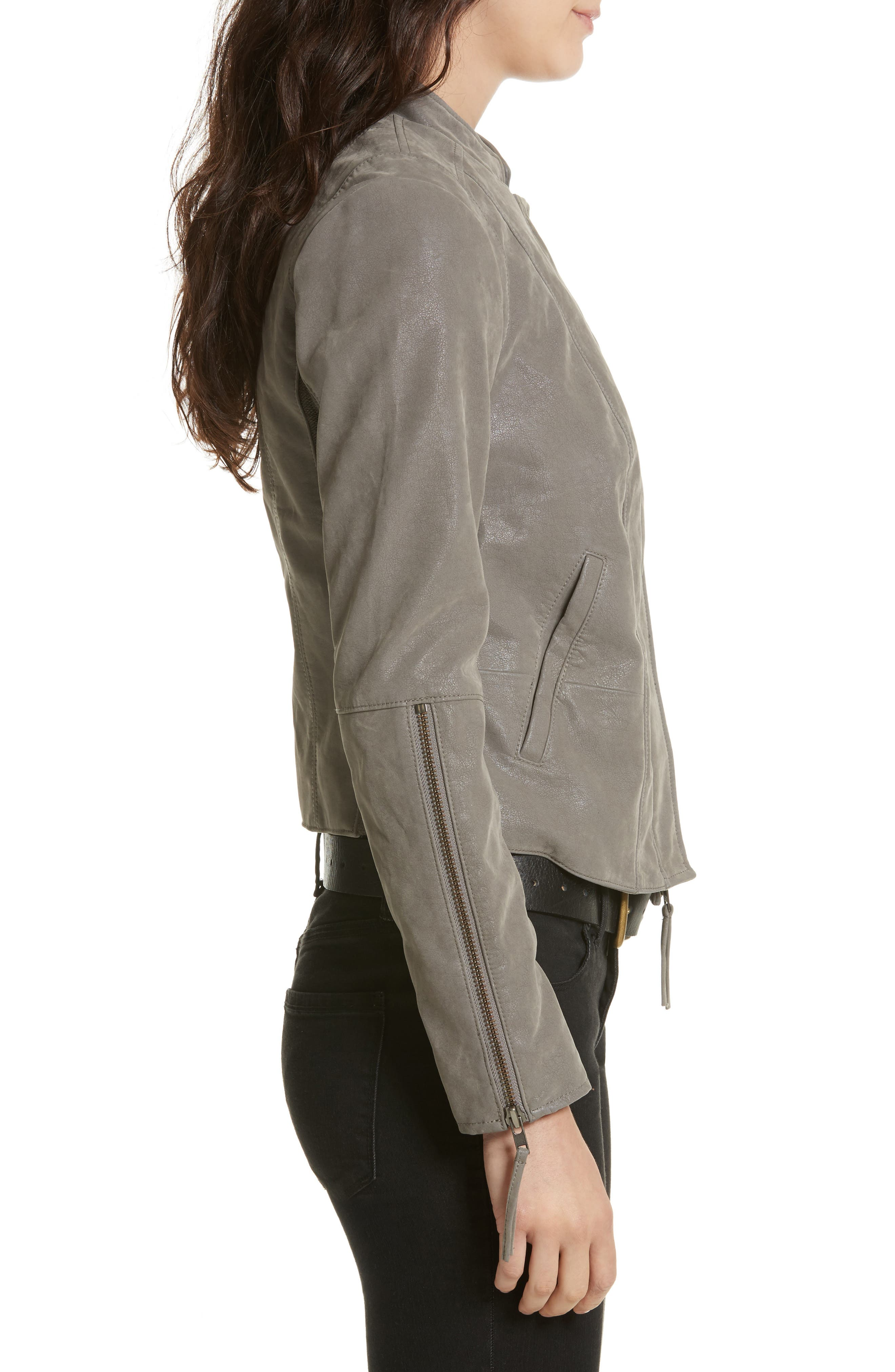 Faux Leather Jacket,                             Alternate thumbnail 3, color,                             035