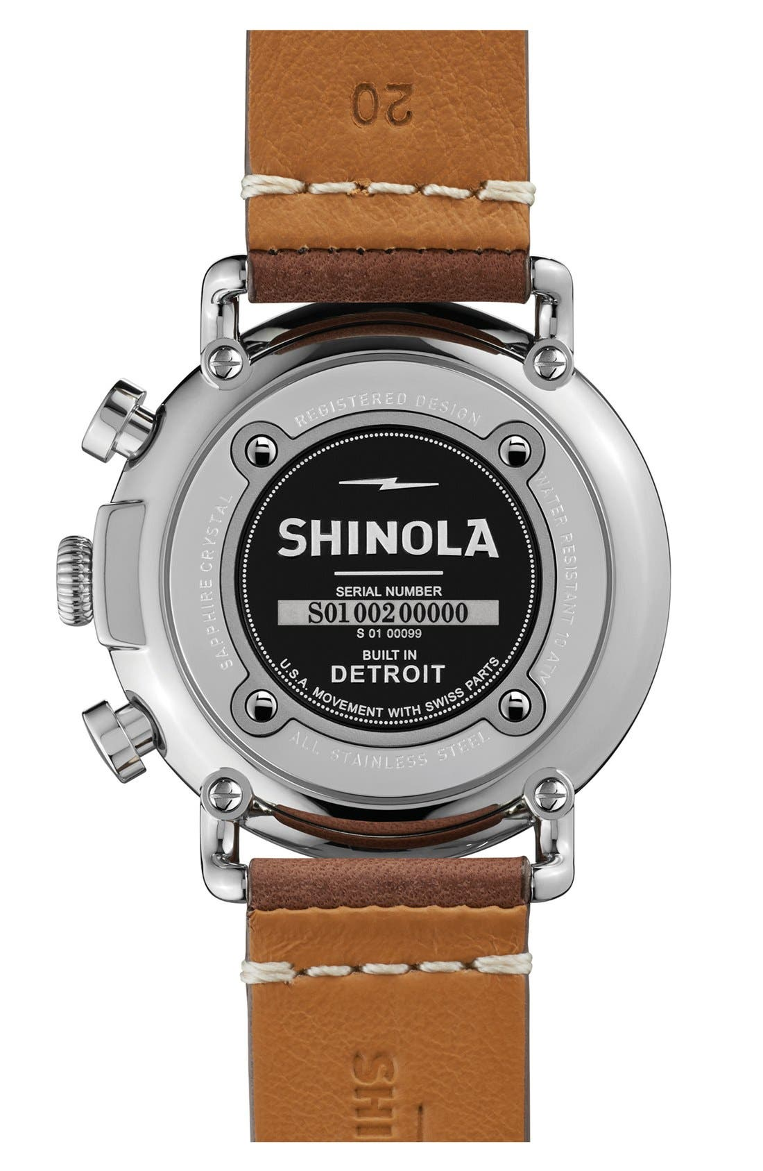 'The Runwell Chrono' Leather Strap Watch, 41mm,                             Alternate thumbnail 8, color,