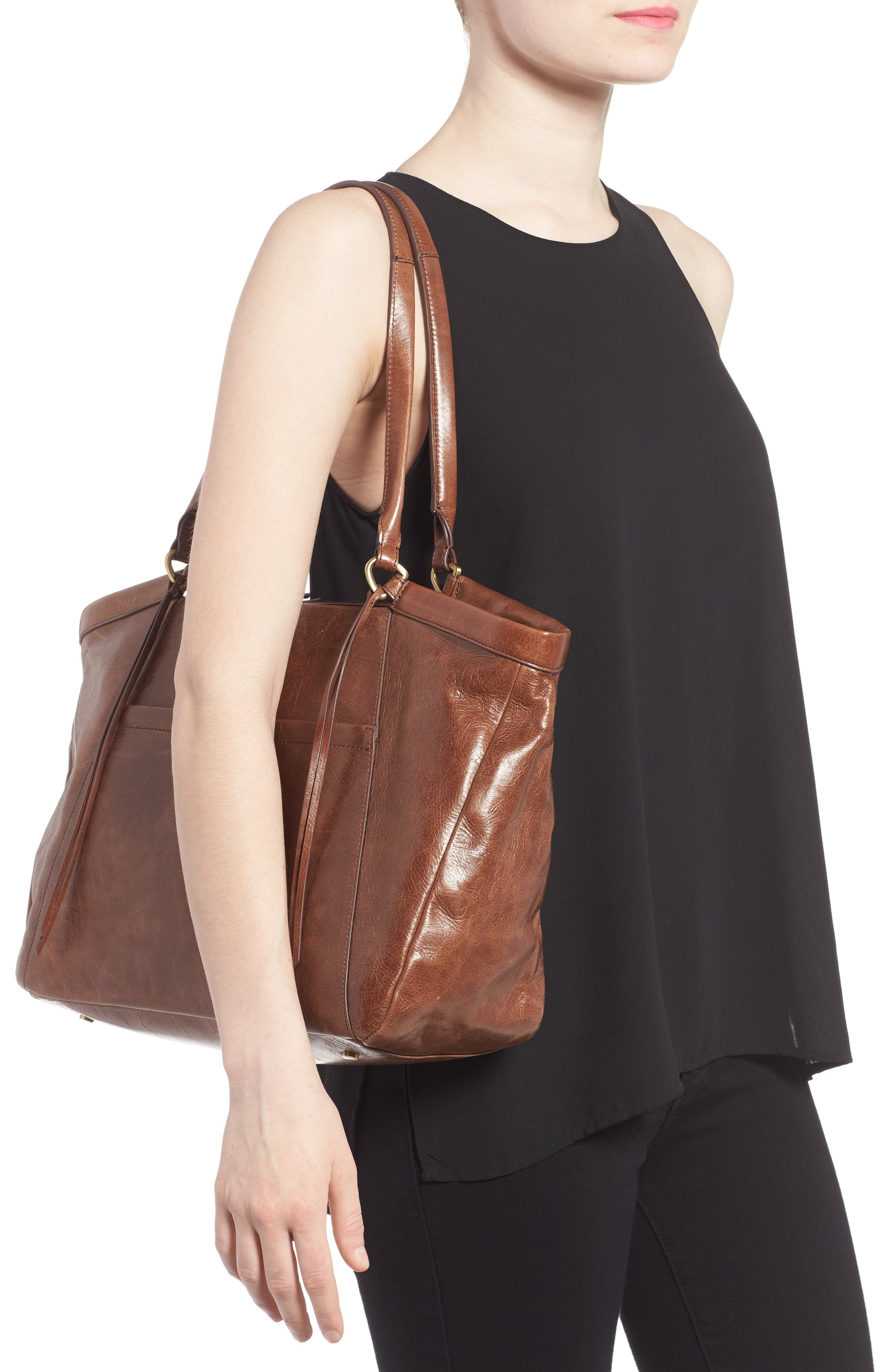 Maryanna Leather Tote,                             Alternate thumbnail 10, color,