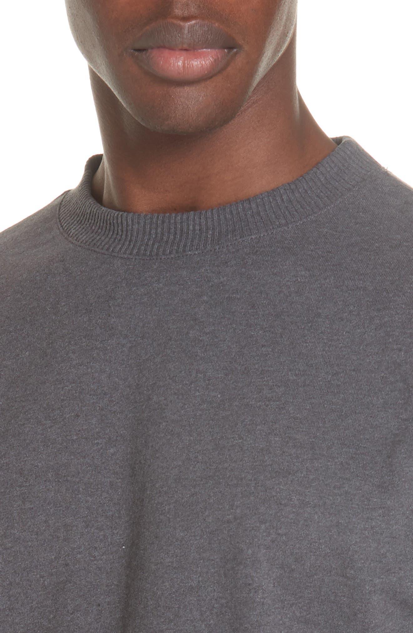 Roman Crewneck Sweatshirt,                             Alternate thumbnail 4, color,                             ANTHRACITE LAD