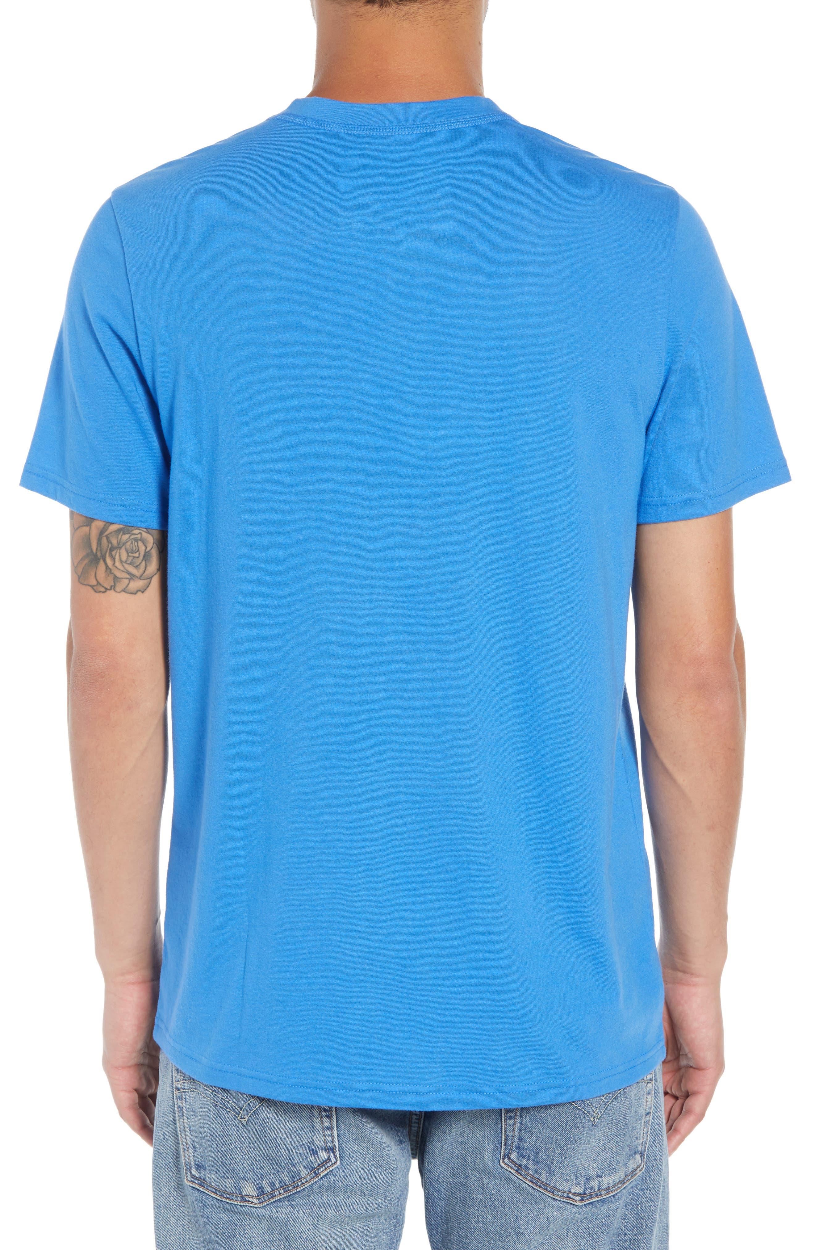 Solid Henley T-Shirt,                             Alternate thumbnail 2, color,                             BLUE BLISS