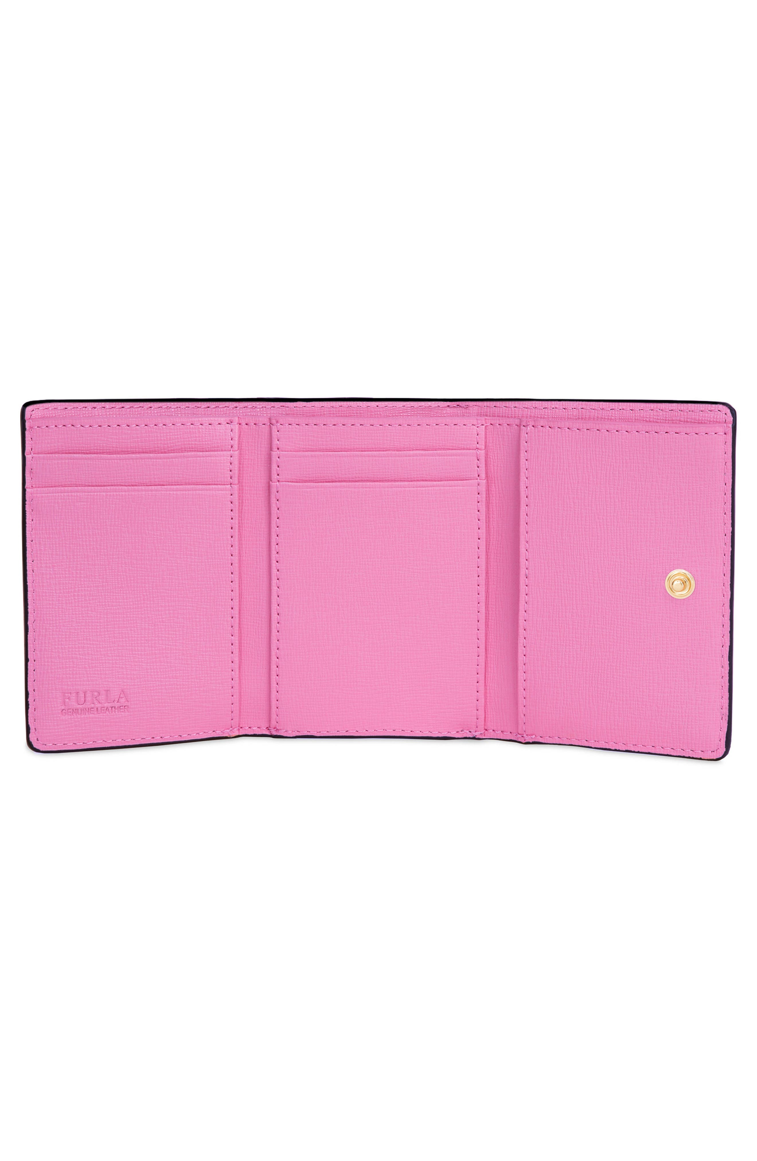 Babylon Saffiano Leather Trifold Wallet,                             Alternate thumbnail 2, color,                             650