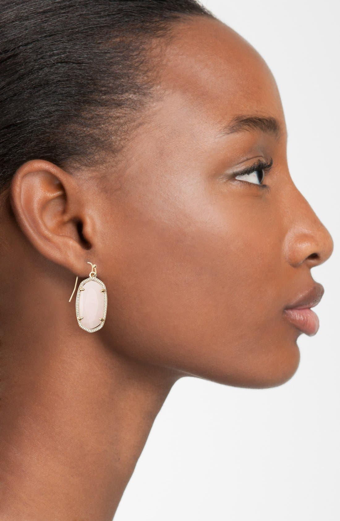 Dani Stone Drop Earrings,                             Alternate thumbnail 2, color,                             001