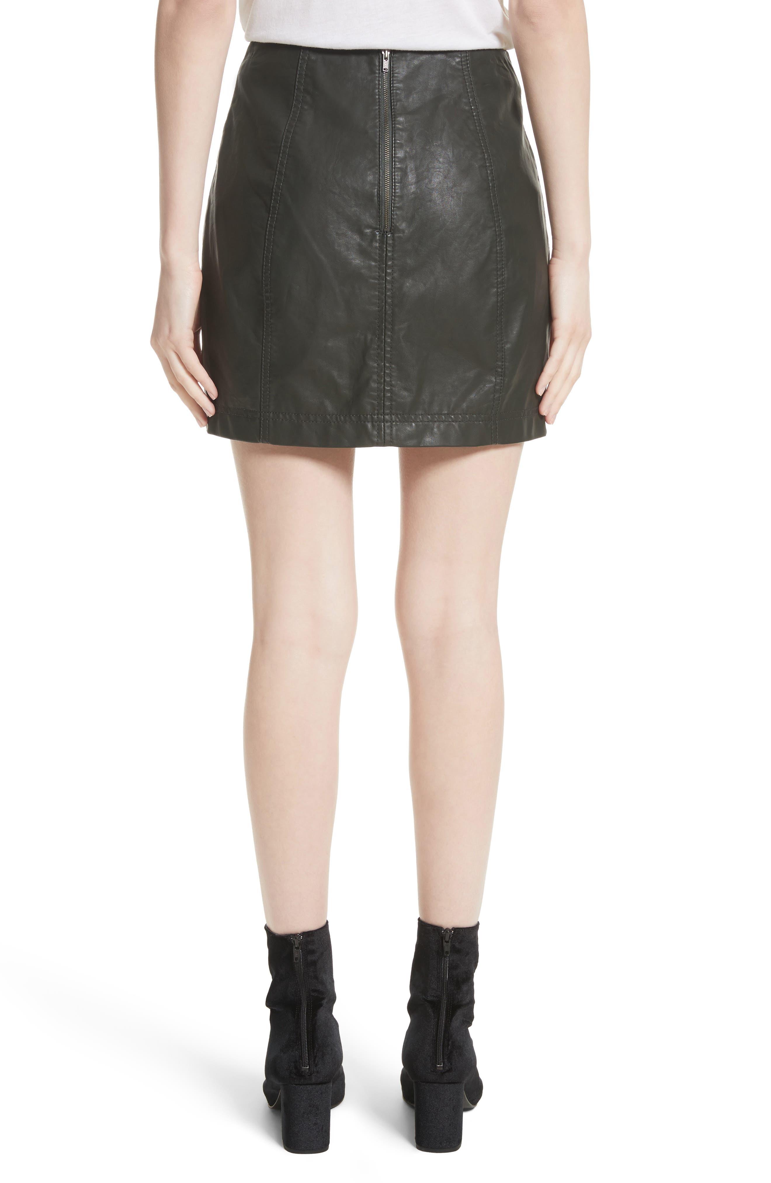 Modern Femme Faux Leather Miniskirt,                             Alternate thumbnail 2, color,                             300
