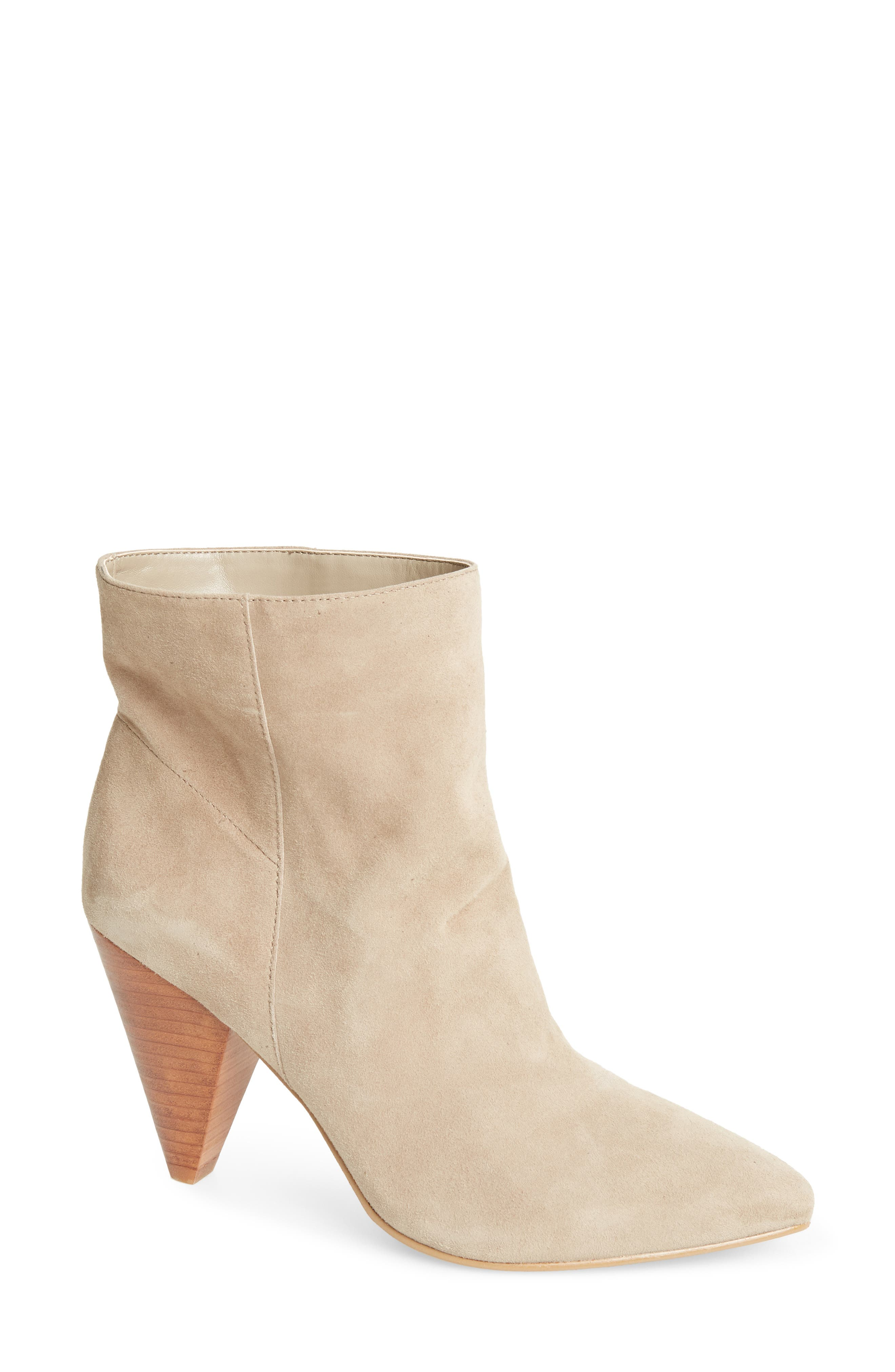 Scope Bootie,                             Main thumbnail 1, color,                             TAUPE SUEDE