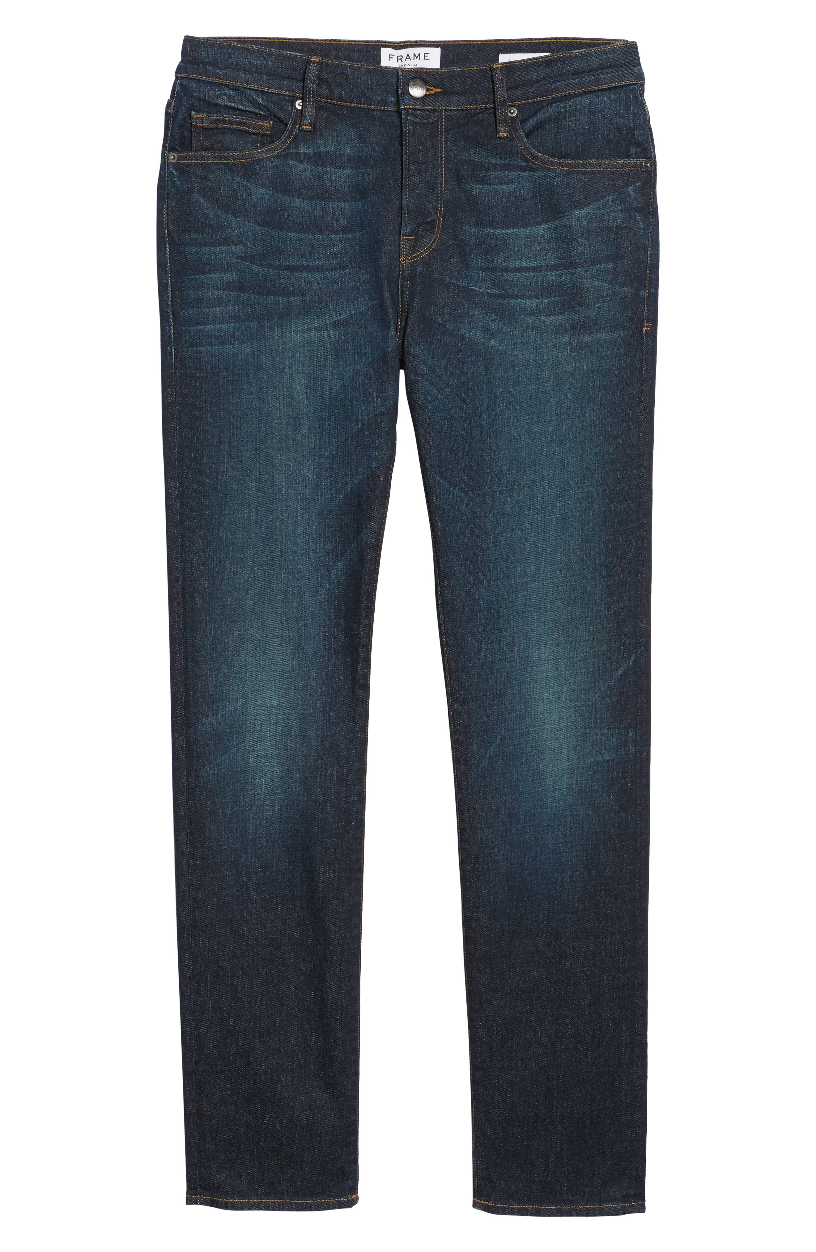 L'Homme Skinny Fit Jeans,                             Alternate thumbnail 7, color,