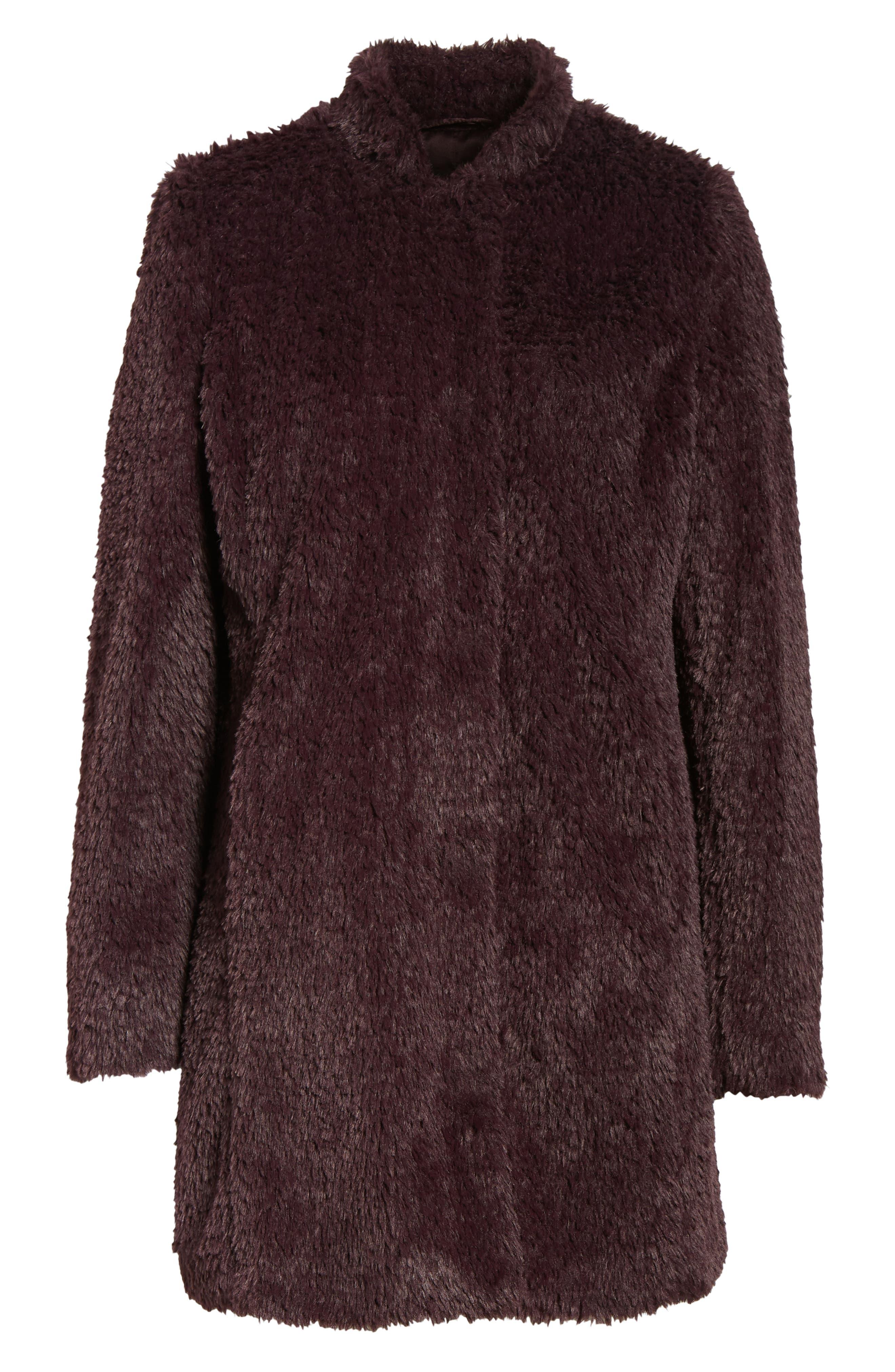 Faux Fur Jacket,                             Alternate thumbnail 28, color,