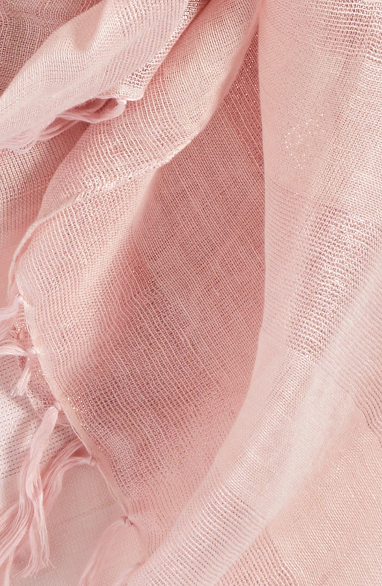 Shimmer Linen Blend Scarf,                             Alternate thumbnail 4, color,                             630
