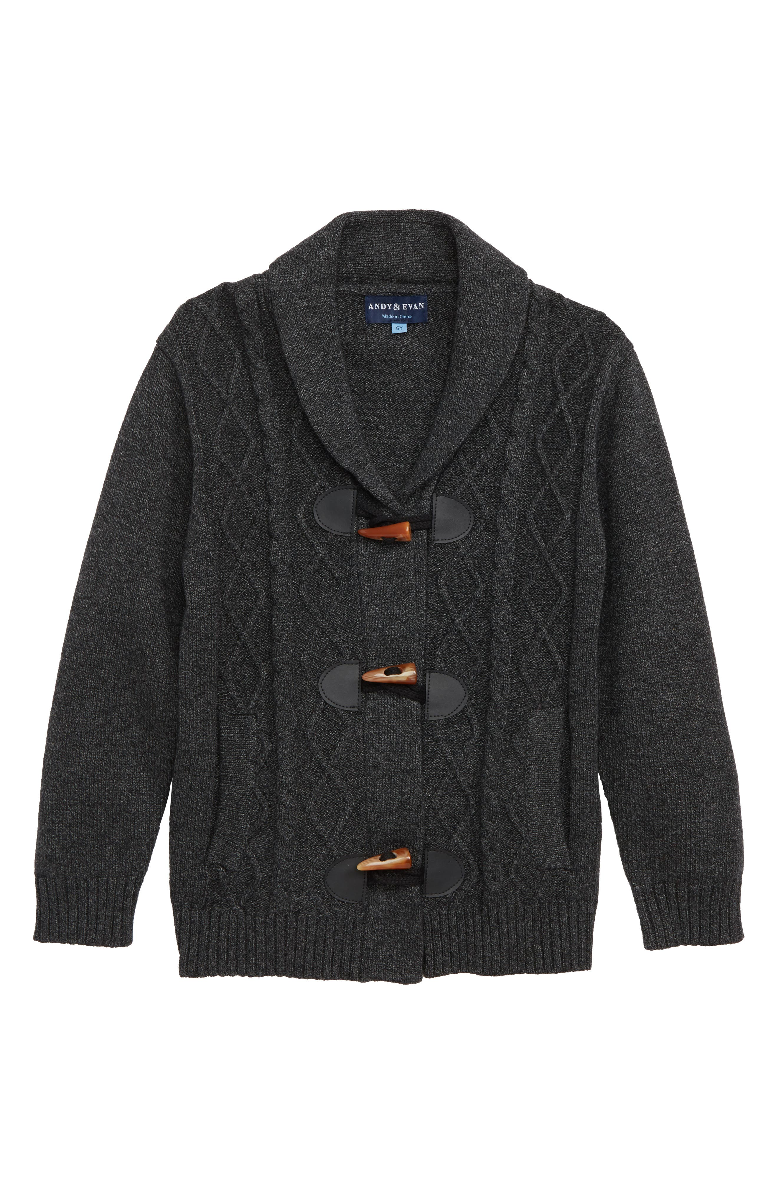 Shawl Collar Toggle Cardigan, Main, color, 020
