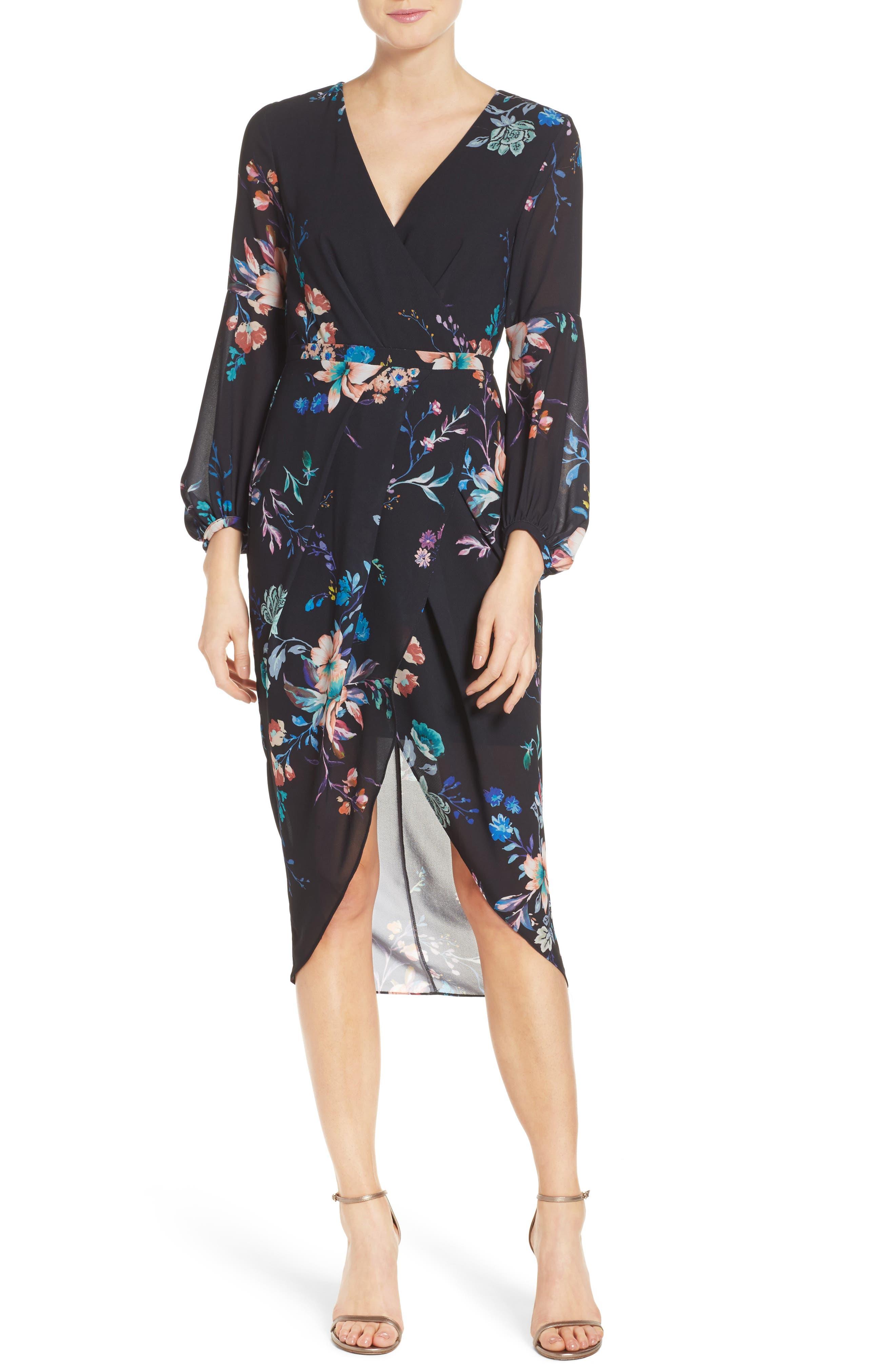 Romanticise Midi Dress,                             Main thumbnail 2, color,