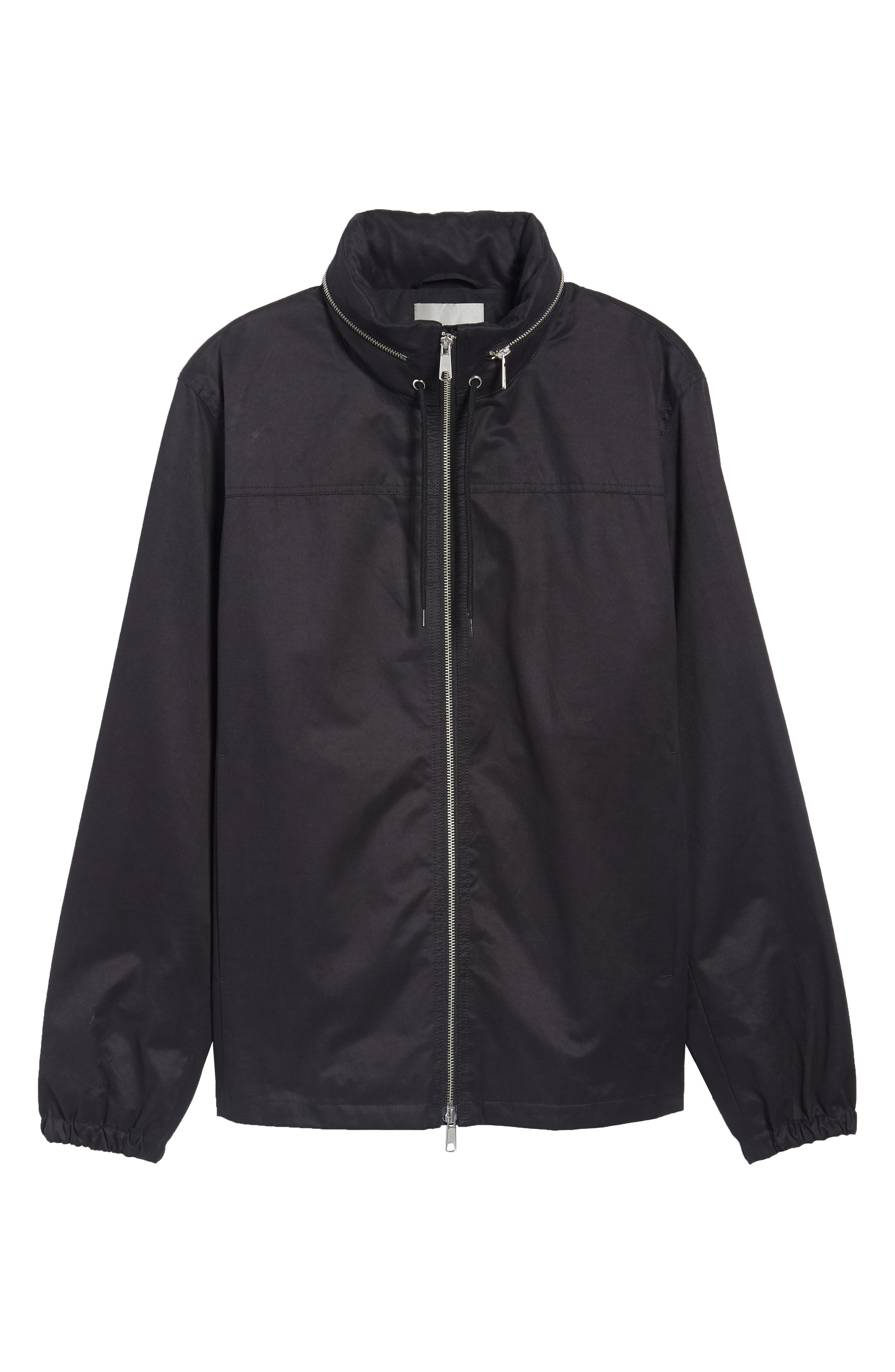 Regular Fit Hooded Jacket,                             Alternate thumbnail 5, color,                             001