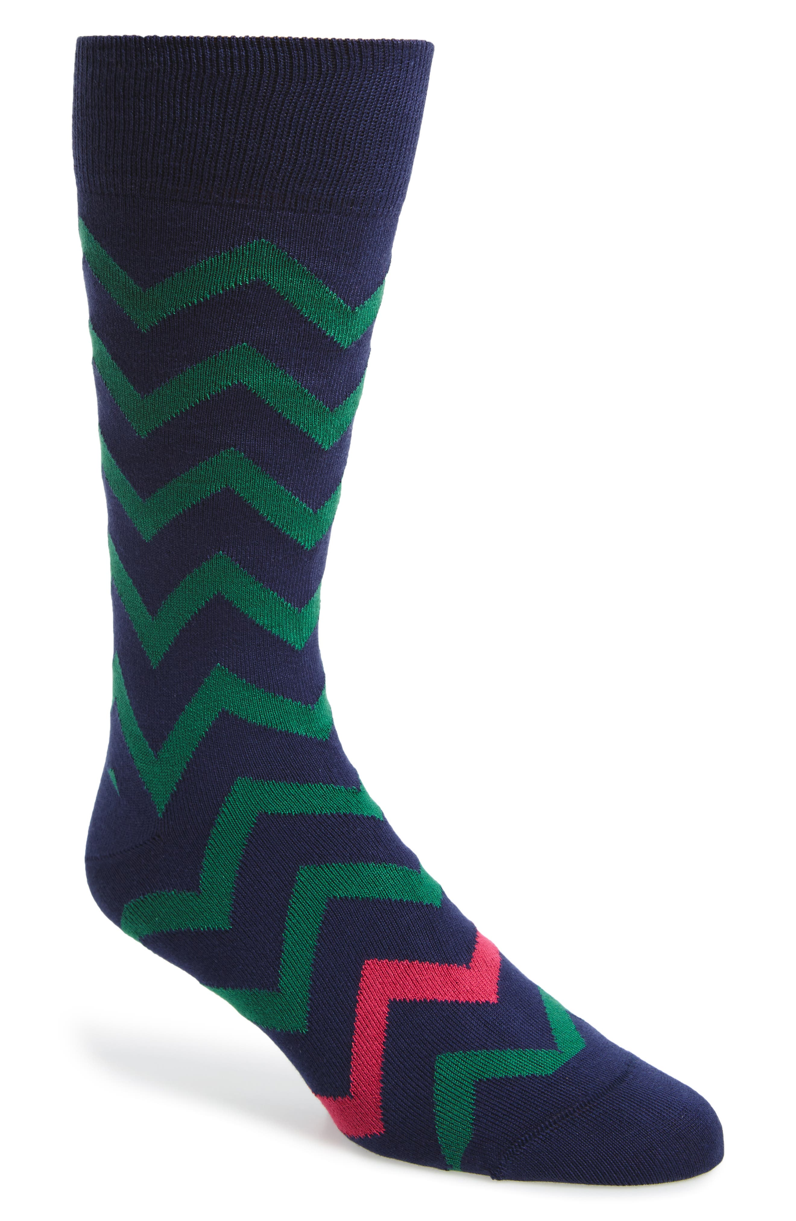 Bright Zigzag Socks,                             Main thumbnail 1, color,
