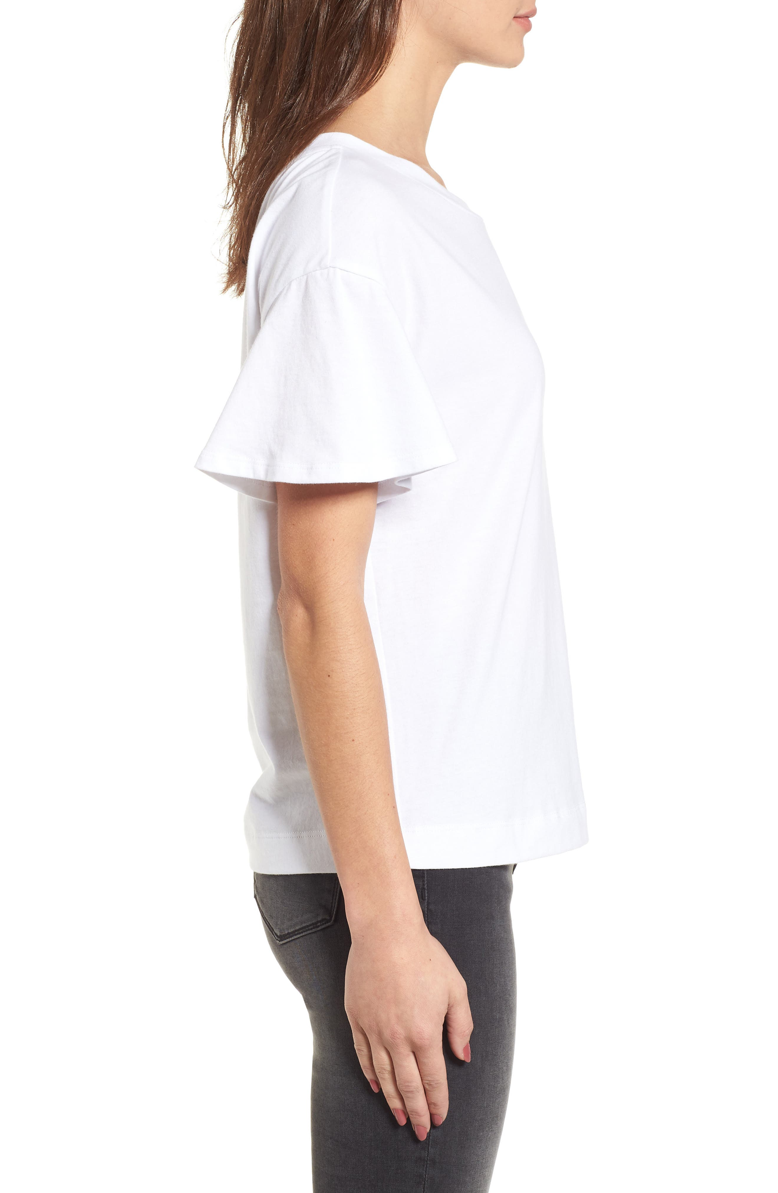 Flutter Sleeve Tee,                             Alternate thumbnail 8, color,