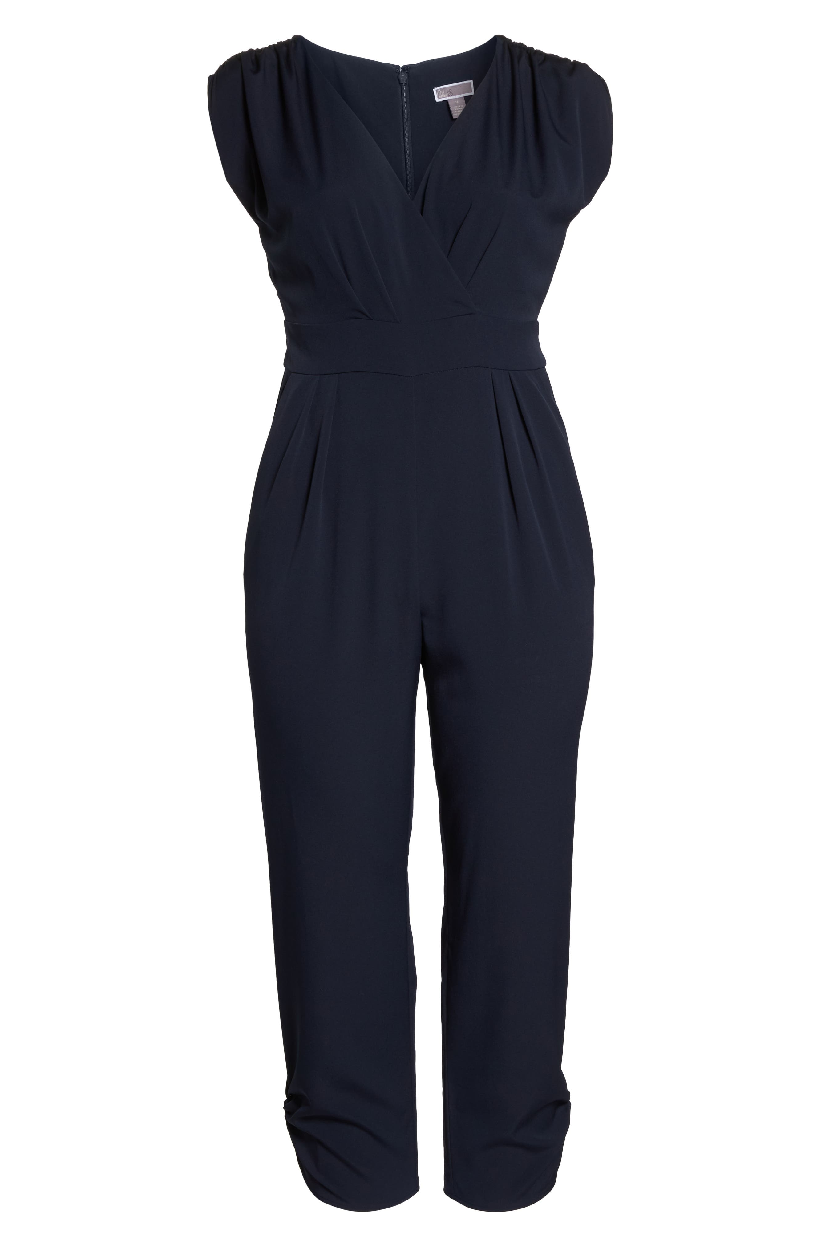 Ruched Ankle Jumpsuit,                             Alternate thumbnail 12, color,                             410