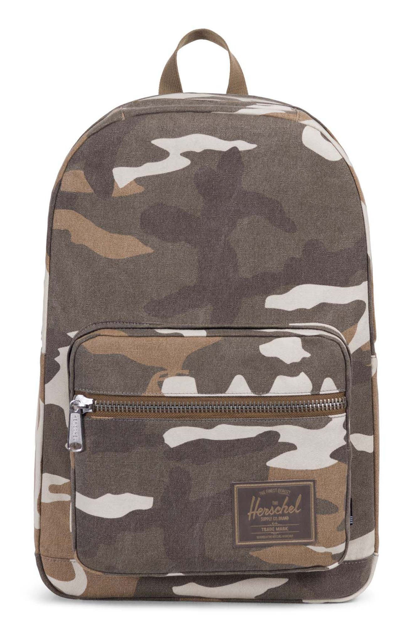 Pop Quiz Print Canvas Backpack,                         Main,                         color, 200