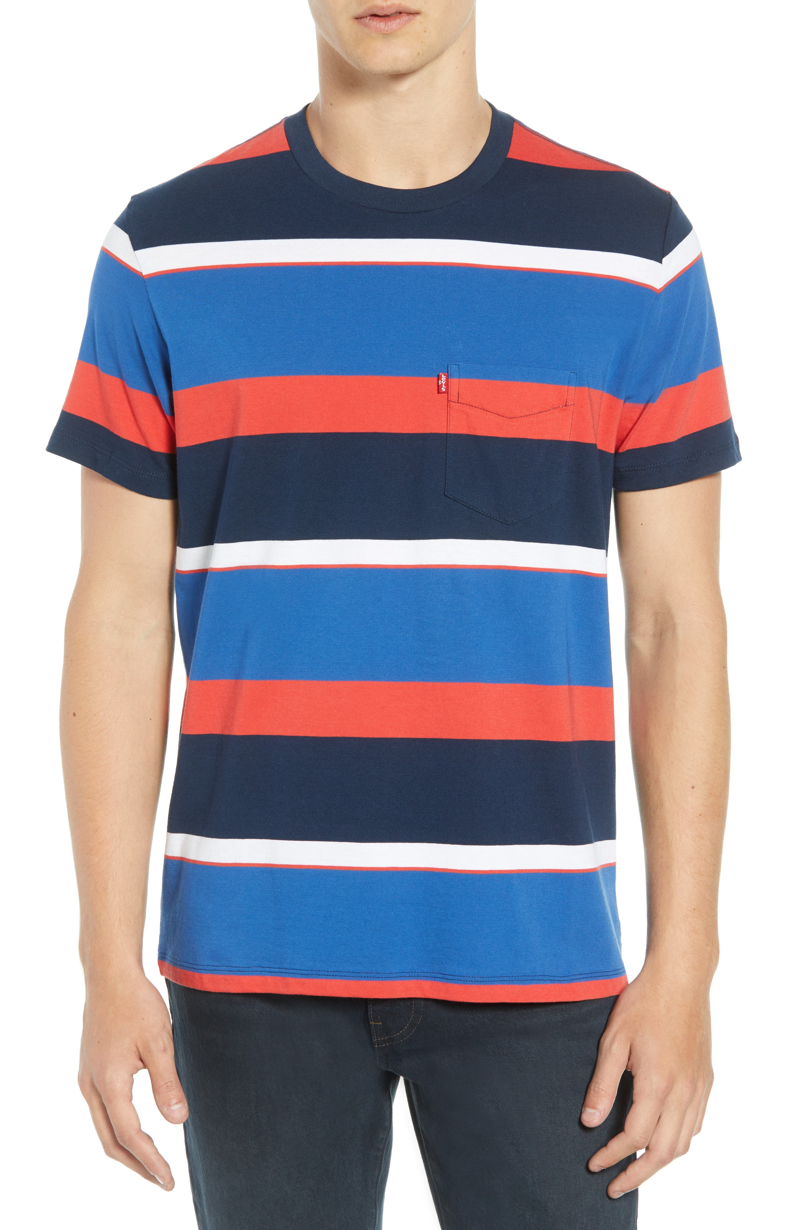 Levi's Sunset Stripe Pocket T-Shirt,                             Main thumbnail 1, color,                             SIXTIES RUGBY