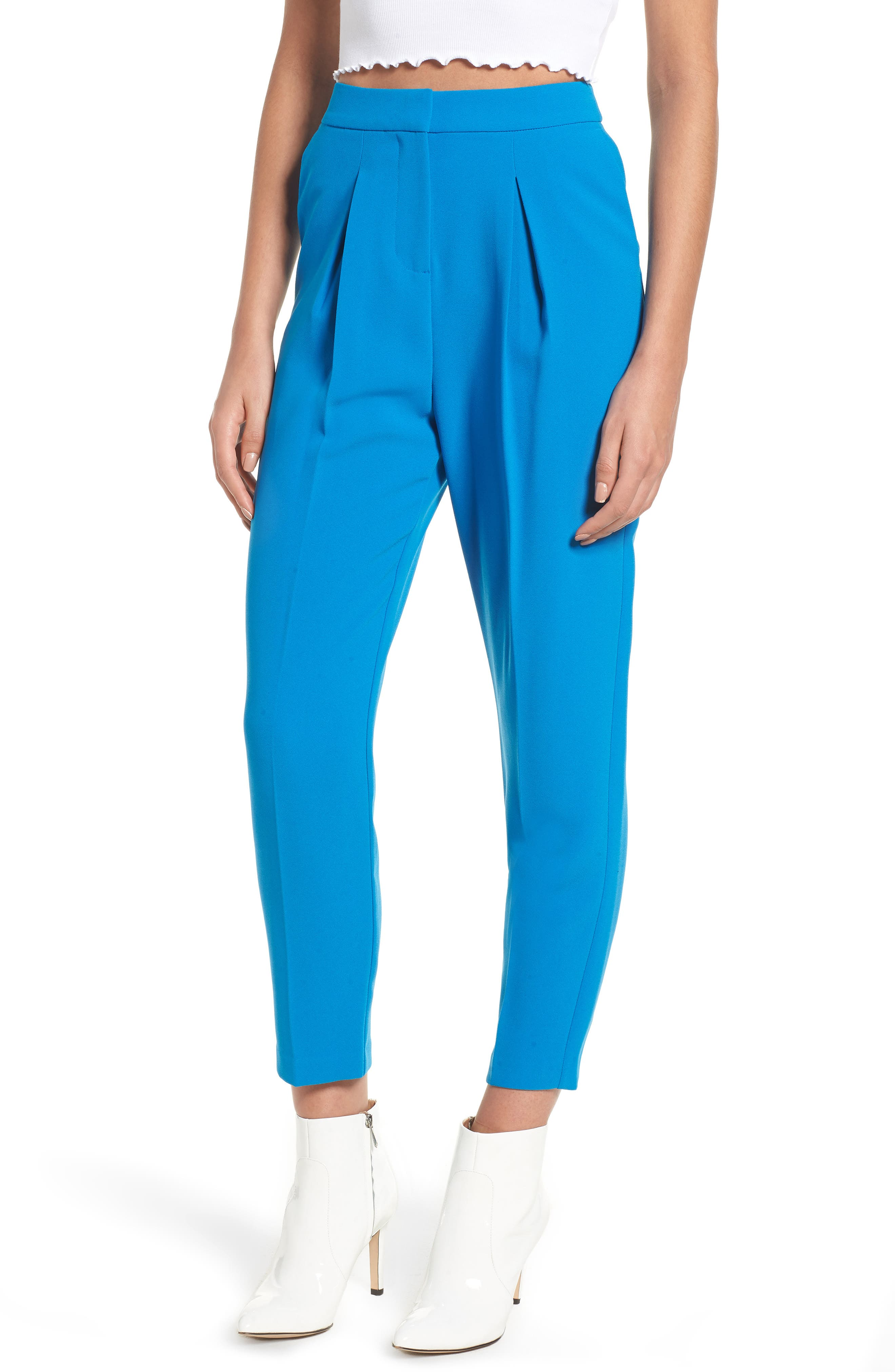 Clara Peg Belted Trousers,                             Main thumbnail 1, color,