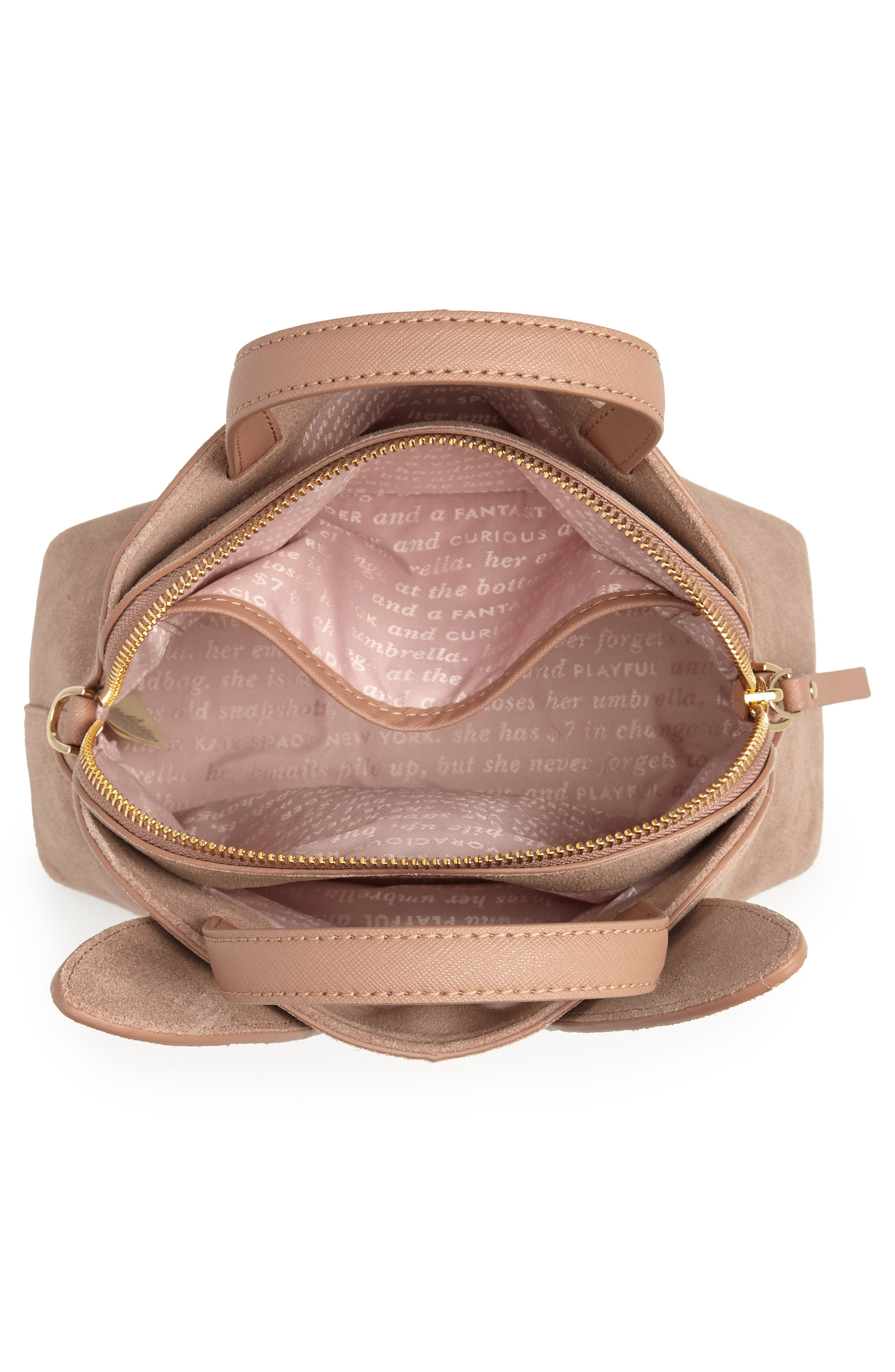 KATE SPADE NEW YORK,                             desert muse rabbit small lotti bag,                             Alternate thumbnail 4, color,                             200