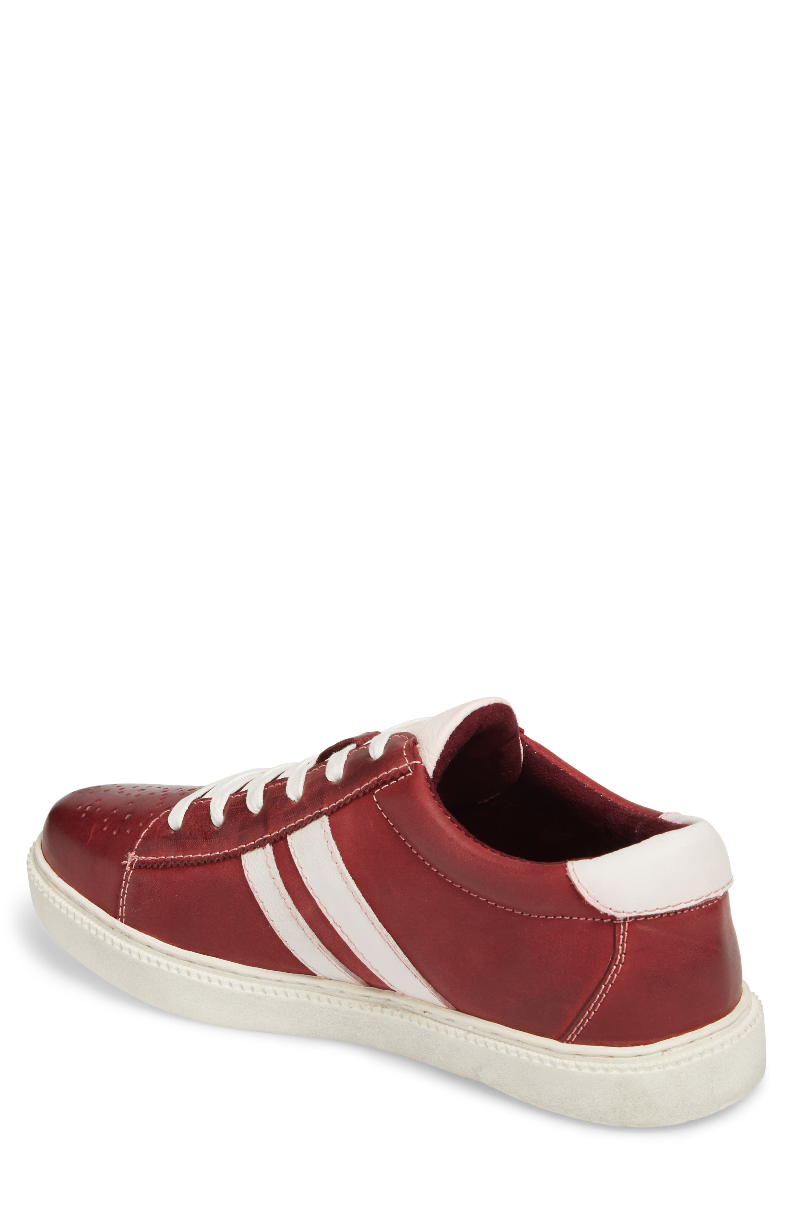 Madox Low Top Sneaker,                             Alternate thumbnail 2, color,                             RED