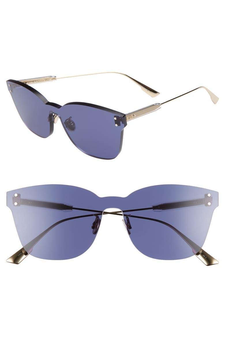 2407a29a9872a Dior Quake2 135Mm Rimless Shield Sunglasses - Blue