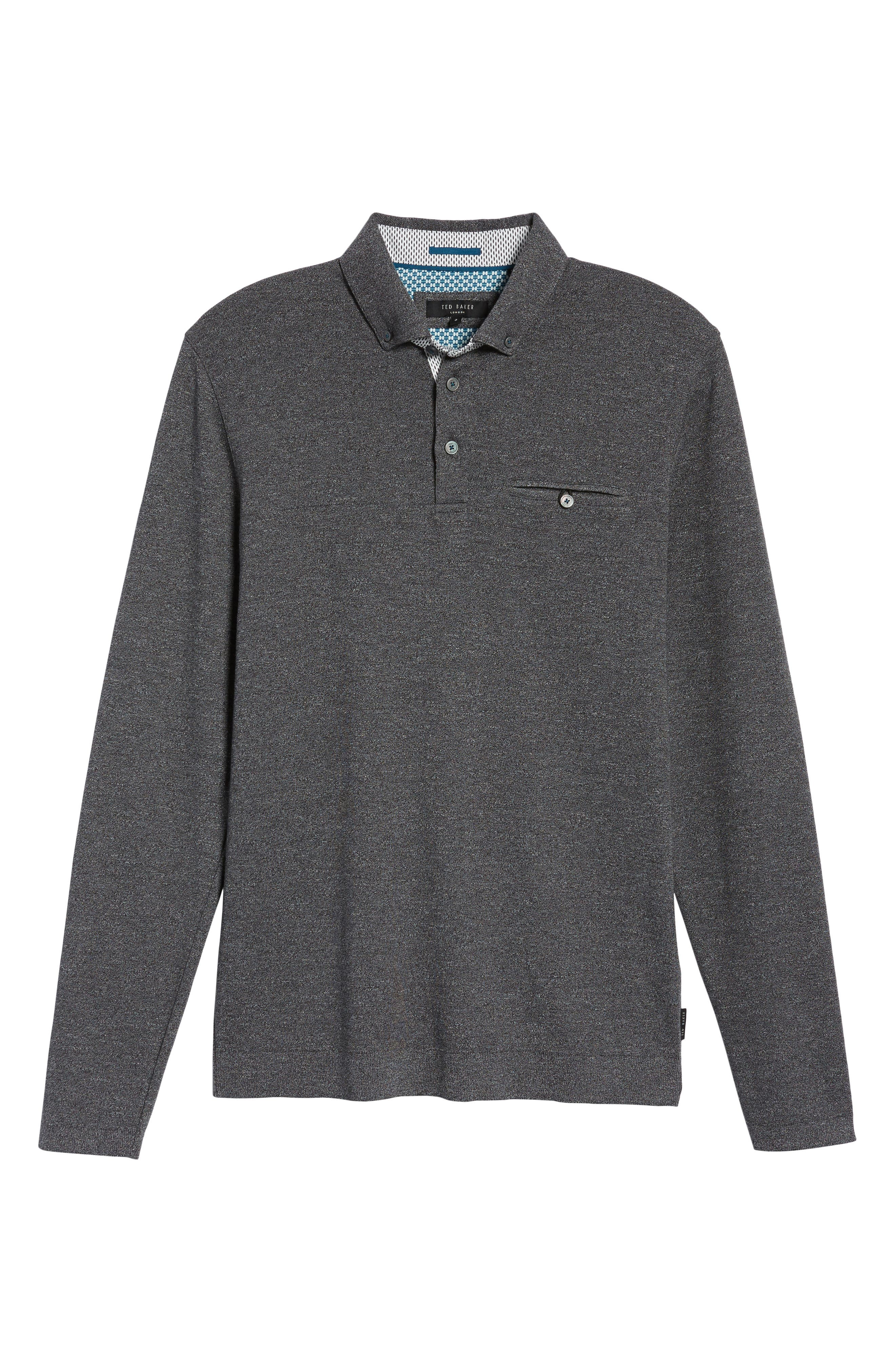 Yamway Modern Slim Fit Long Sleeve Polo,                             Alternate thumbnail 16, color,