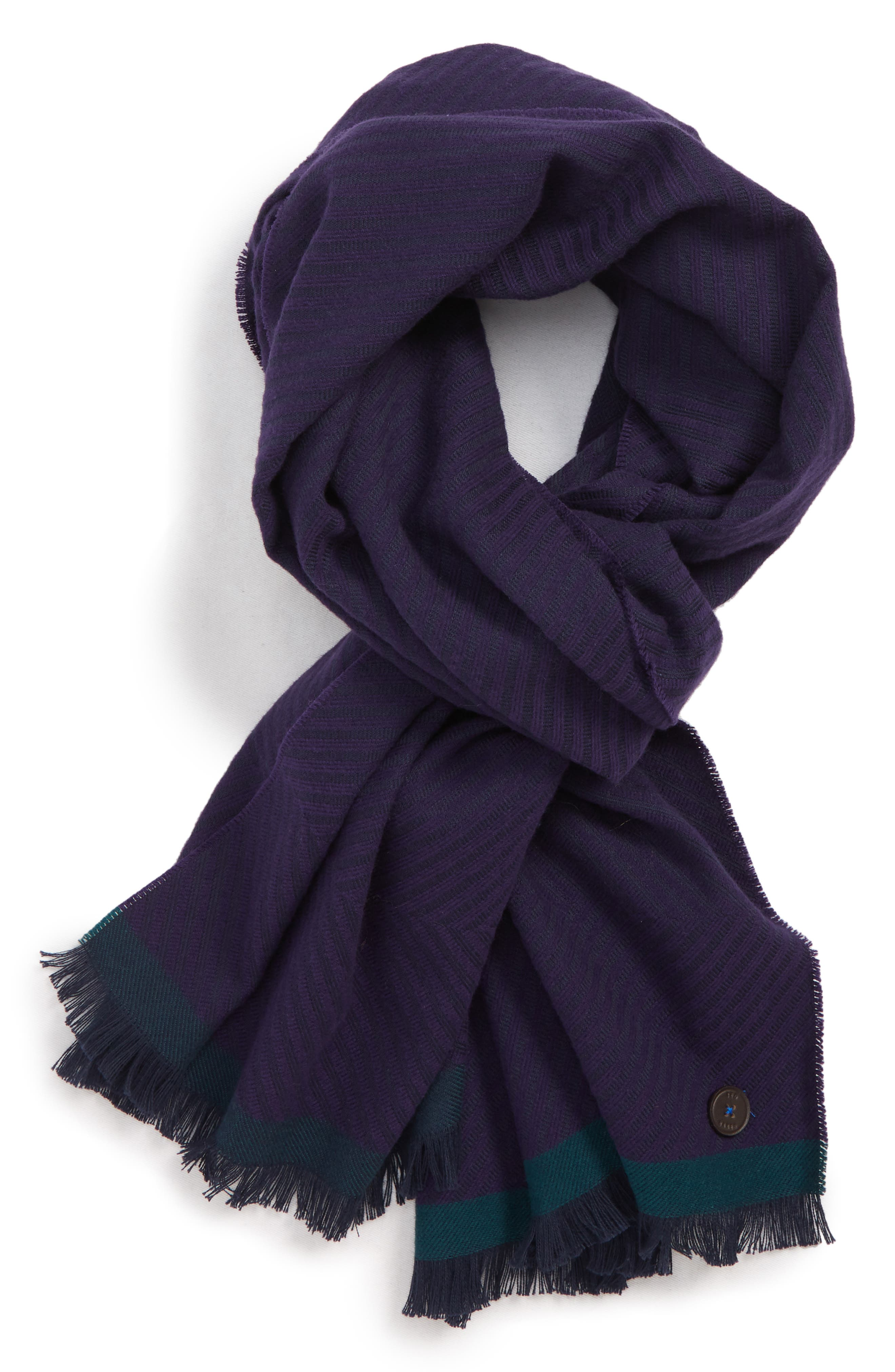 TED BAKER LONDON Cotton Twill Scarf, Main, color, 501