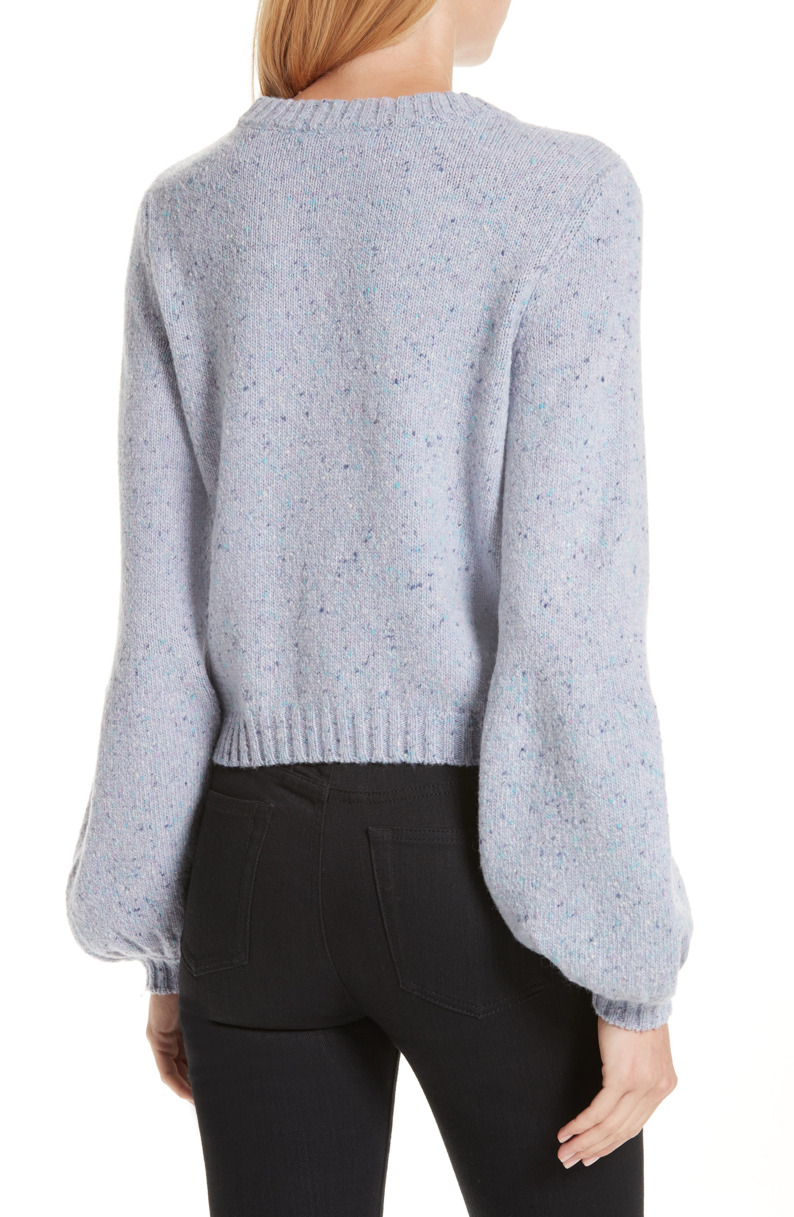 Bell Sleeve Wool Blend Sweater,                             Alternate thumbnail 2, color,                             BABY BLUE