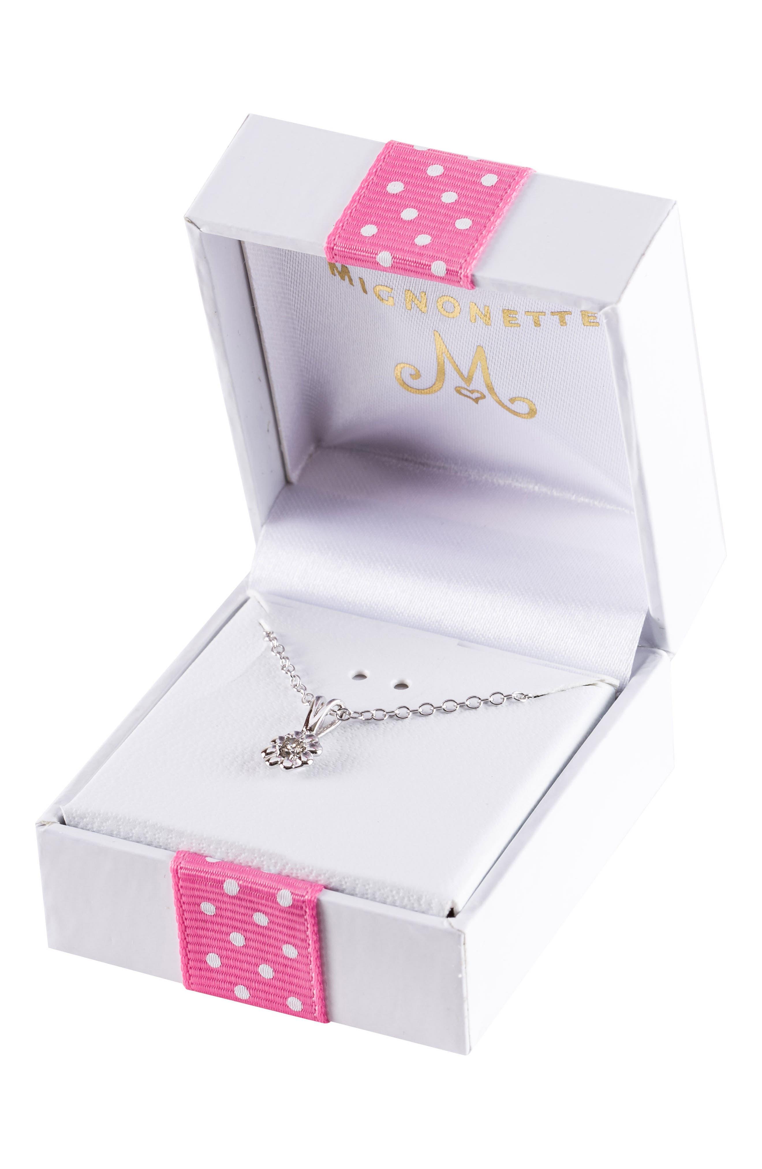 Sterling Silver Diamond Pendant Necklace,                             Alternate thumbnail 2, color,