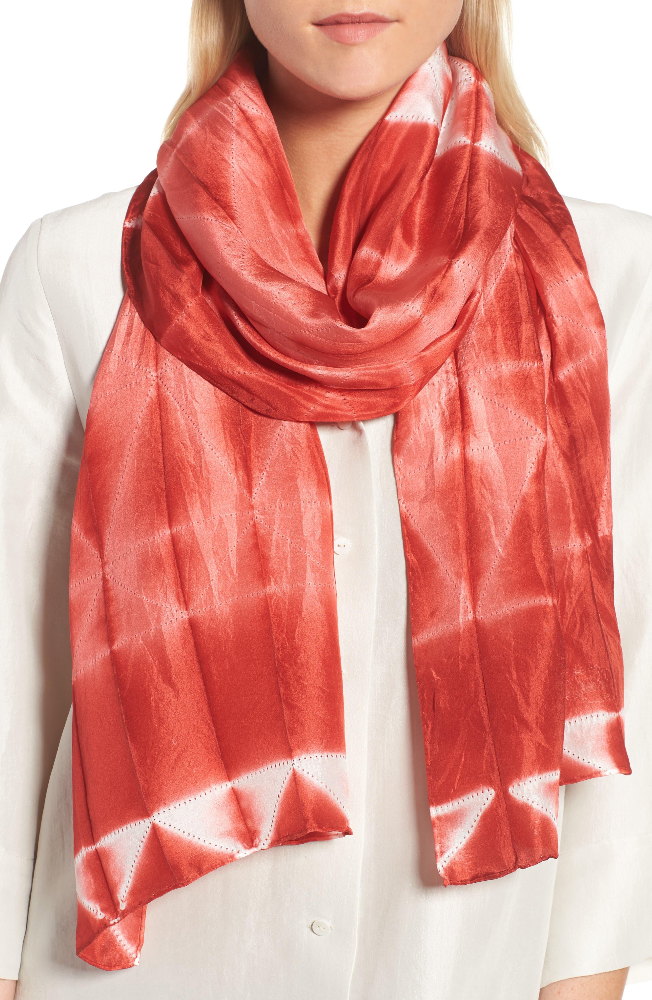 Tie Dye Silk Scarf,                             Main thumbnail 2, color,