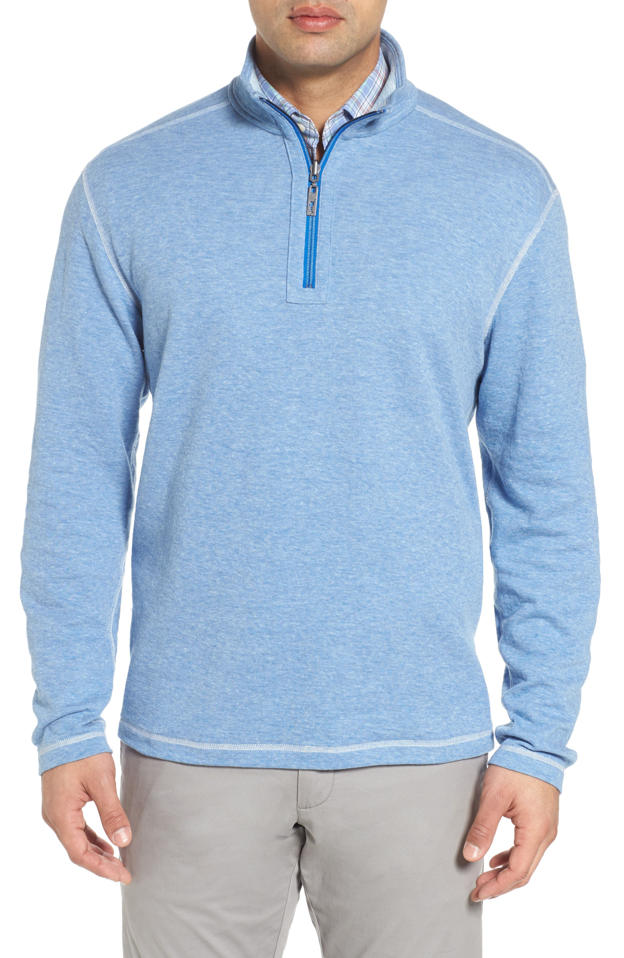 Sea Glass Reversible Quarter Zip Pullover,                             Alternate thumbnail 13, color,