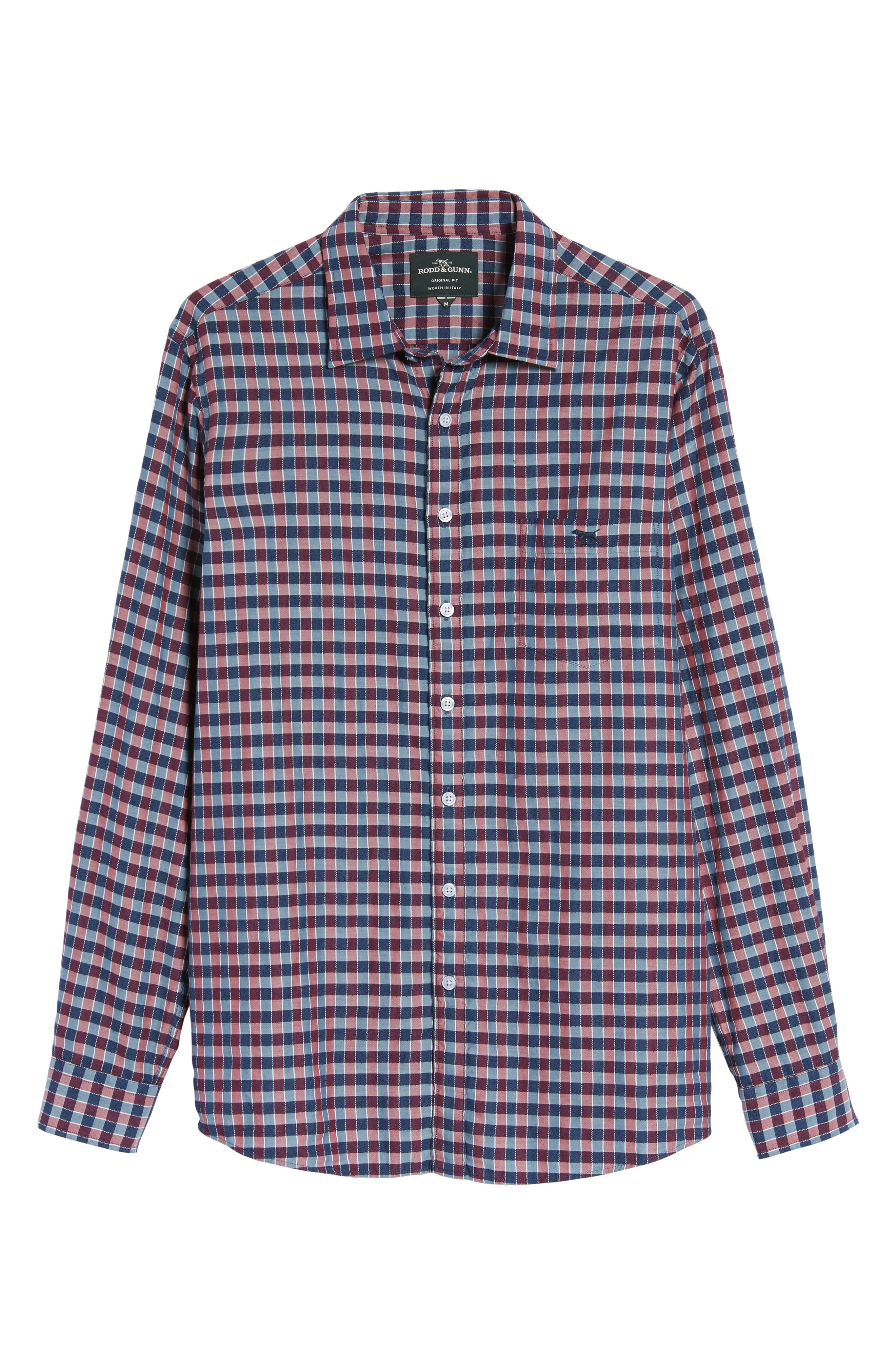 Mandeville Check Sport Shirt,                             Alternate thumbnail 6, color,                             413