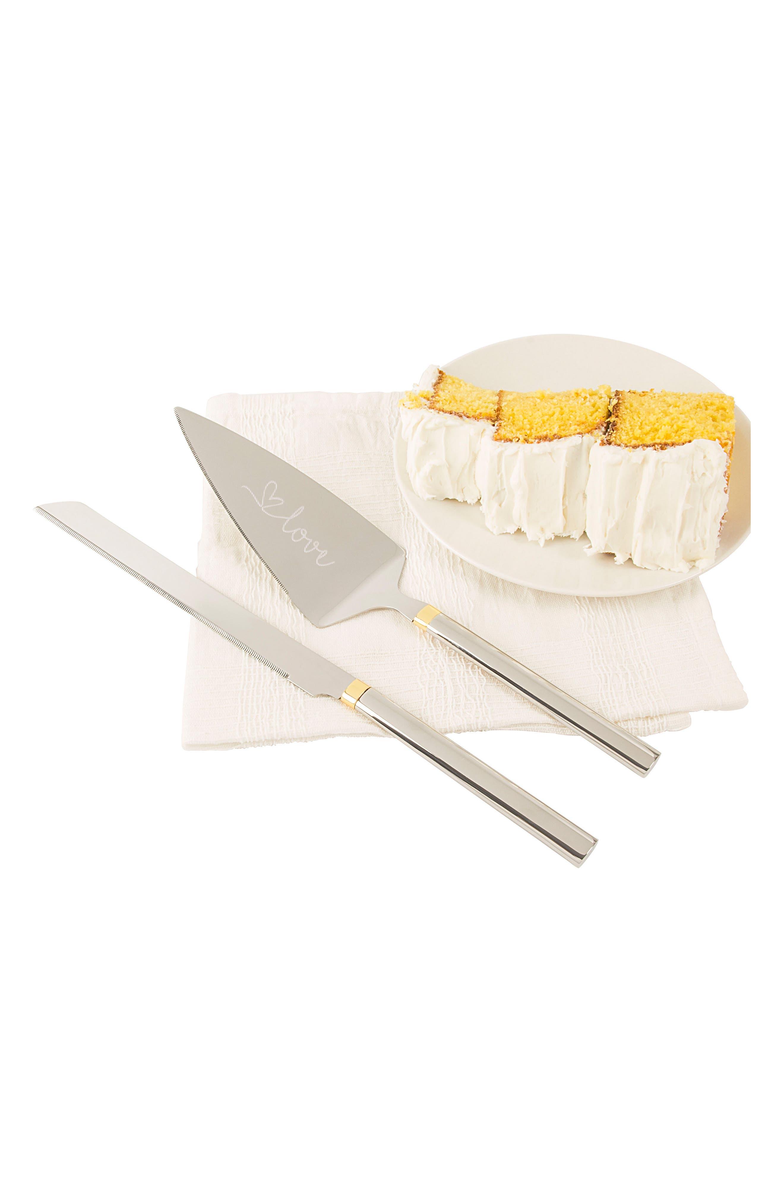 Golden Love Cake Server Set,                             Alternate thumbnail 4, color,                             040
