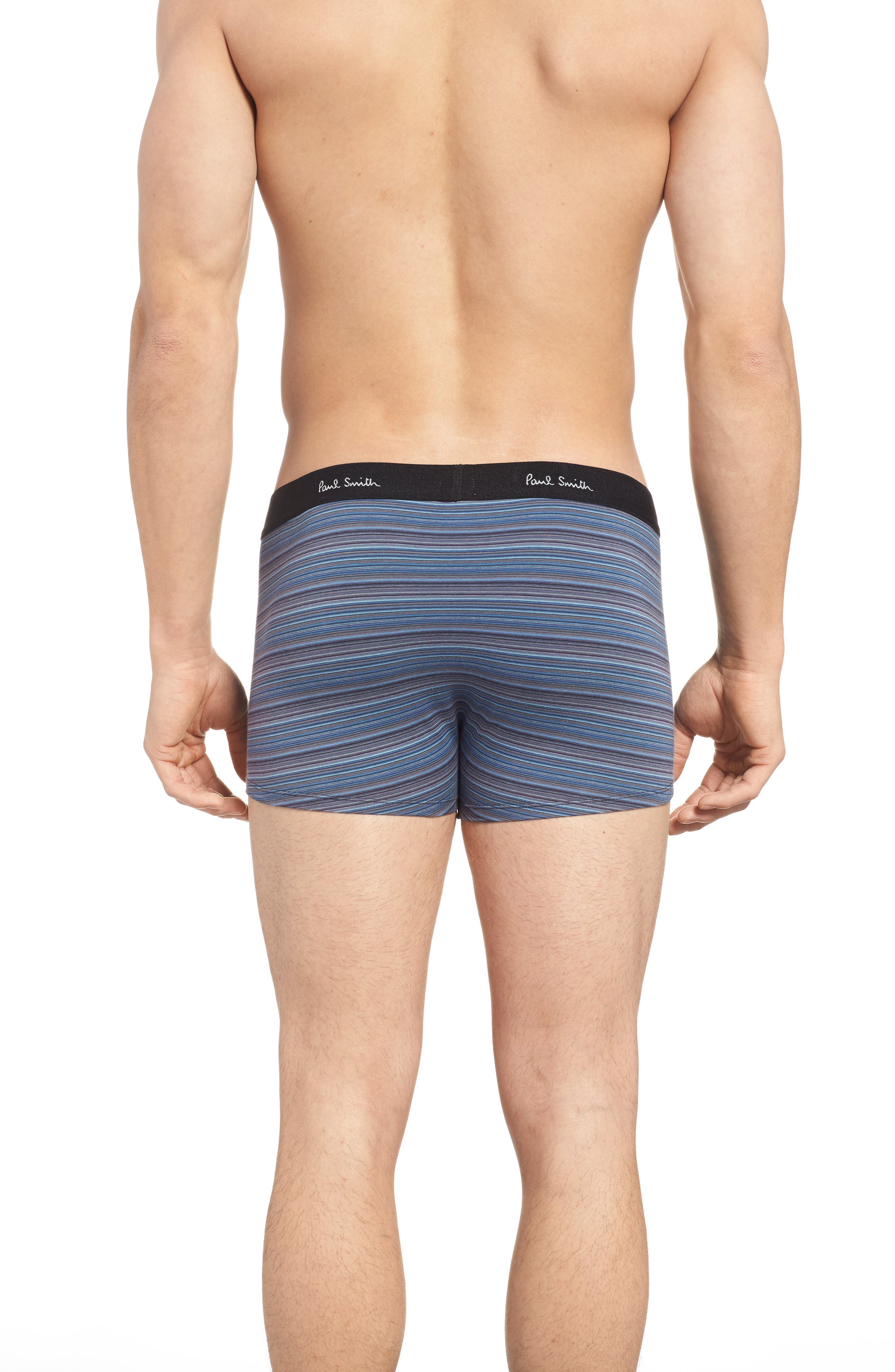 Multi Stripe Stretch Cotton Trunks,                             Alternate thumbnail 6, color,