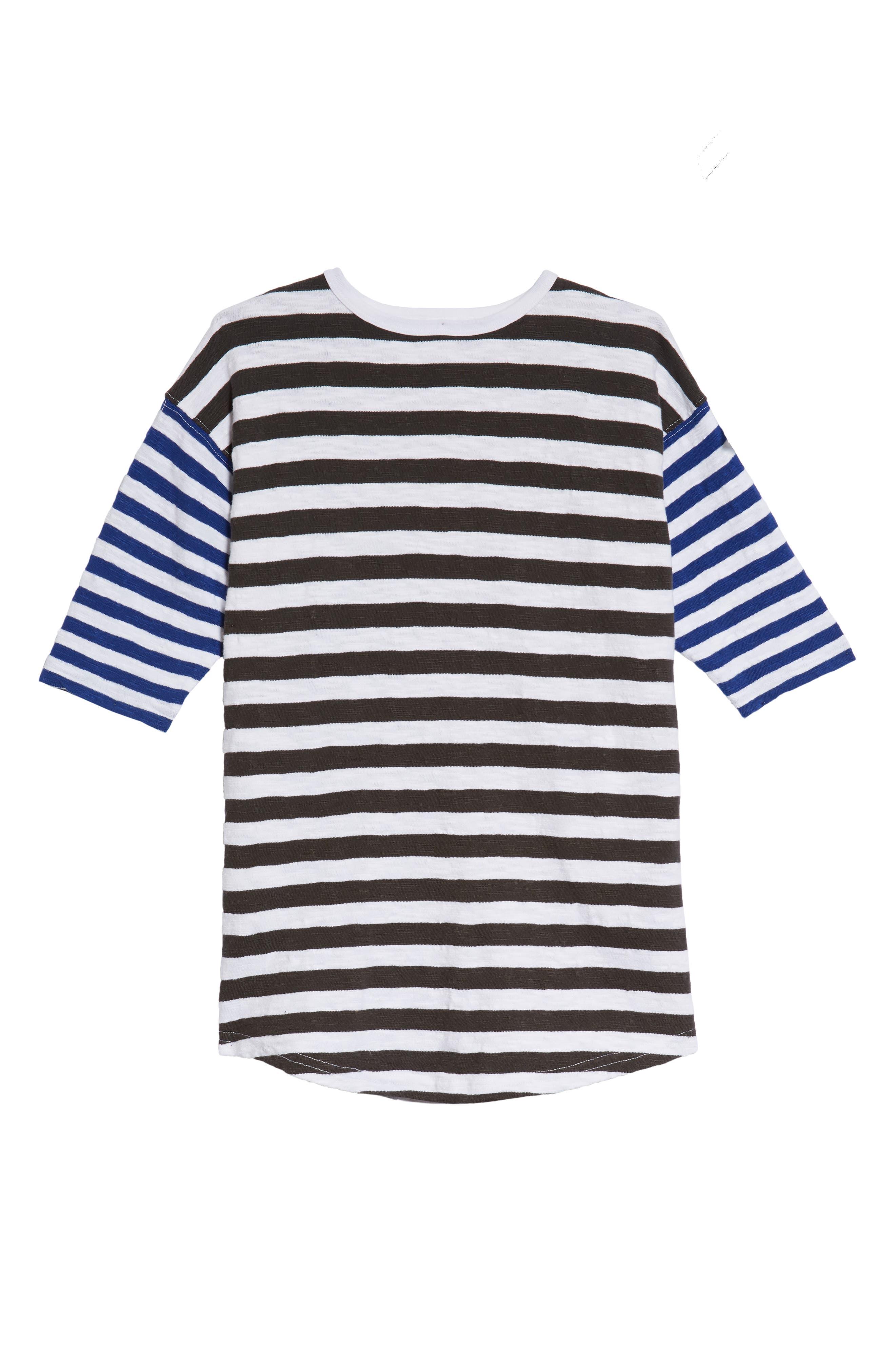 Mixed Stripe Dress,                         Main,                         color,