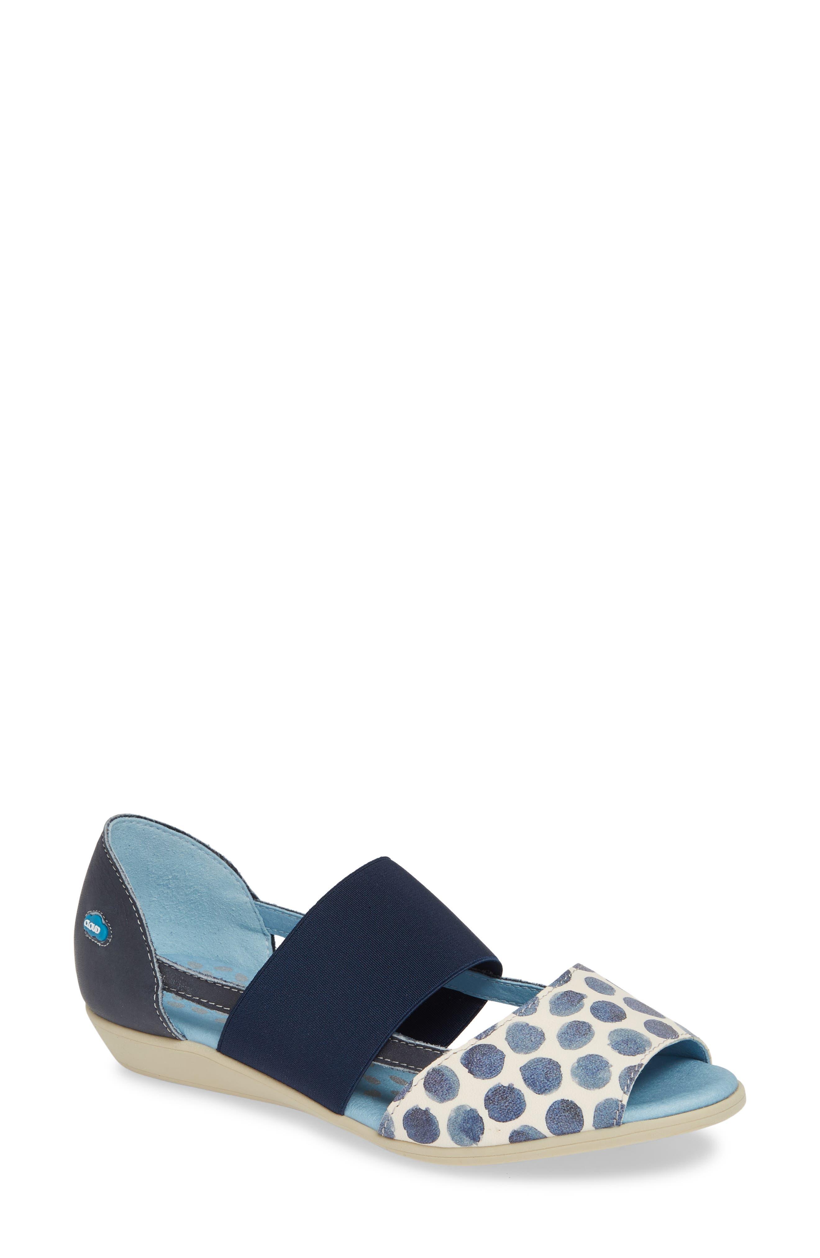 CLOUD 'Canary' Skimmer Sandal, Main, color, TUPAI BLUE LEATHER