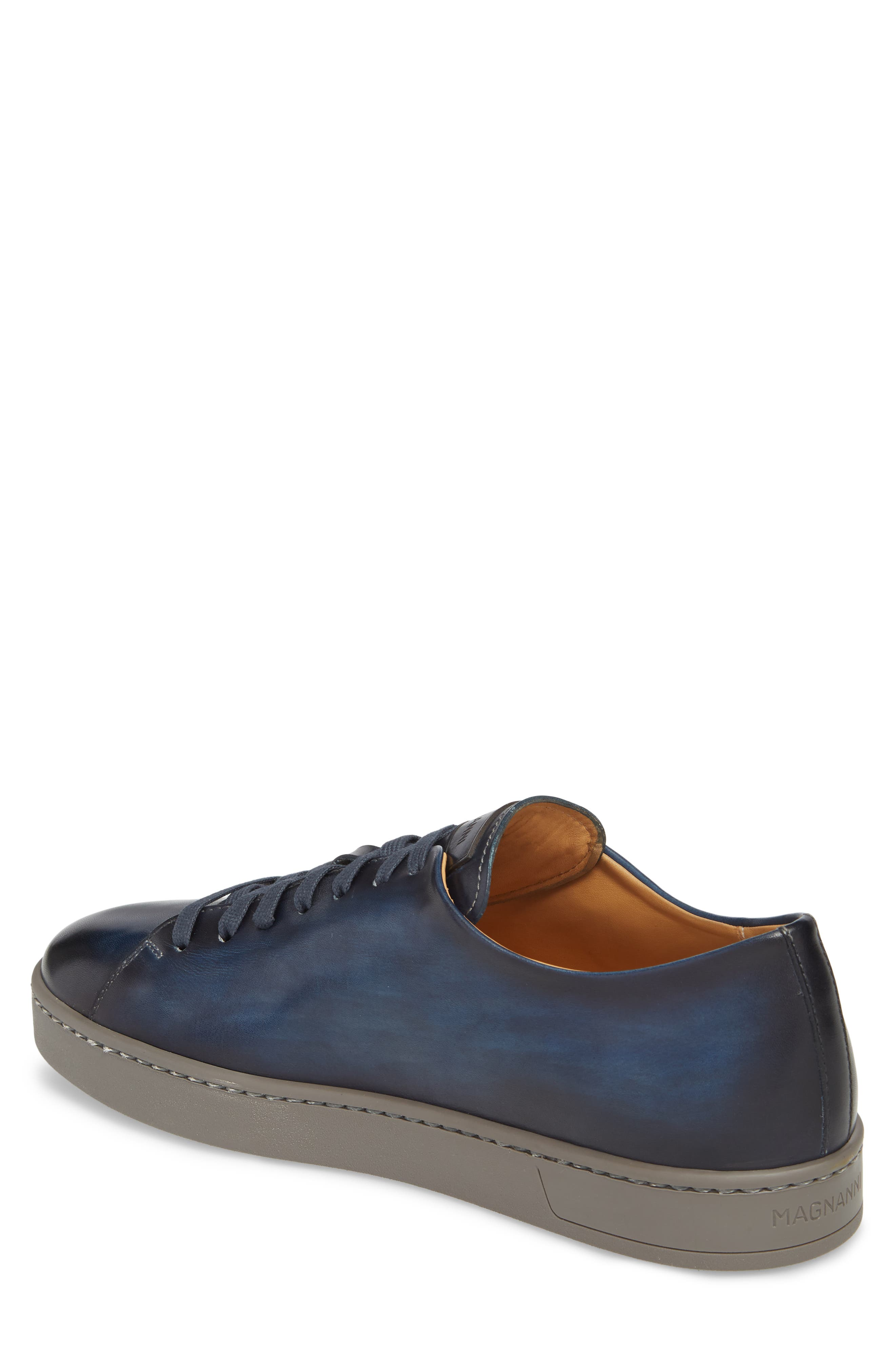 Belmont Lo Sneaker,                             Alternate thumbnail 2, color,                             NAVY LEATHER