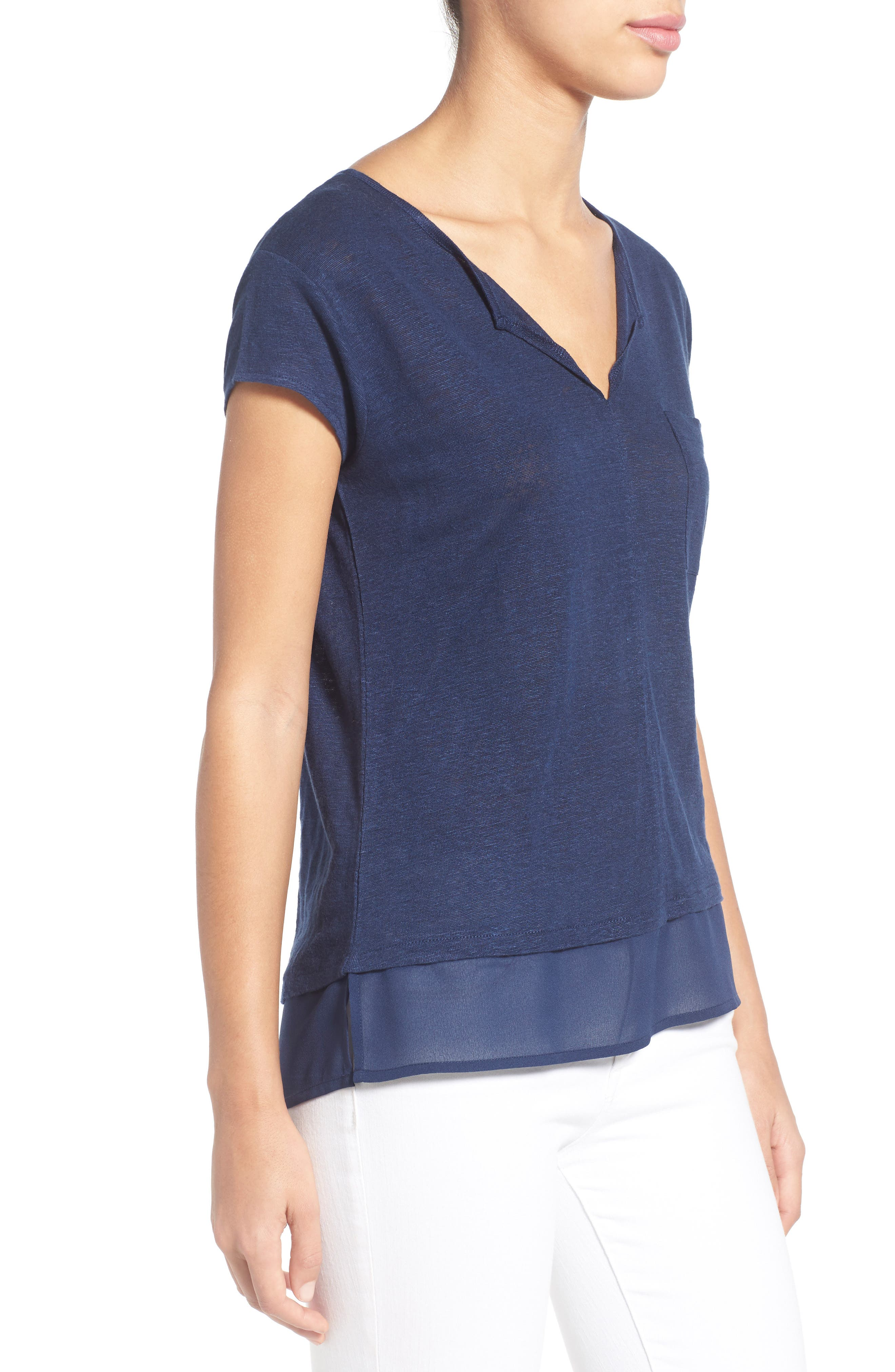 City Mix Layered Look Tee,                             Alternate thumbnail 72, color,