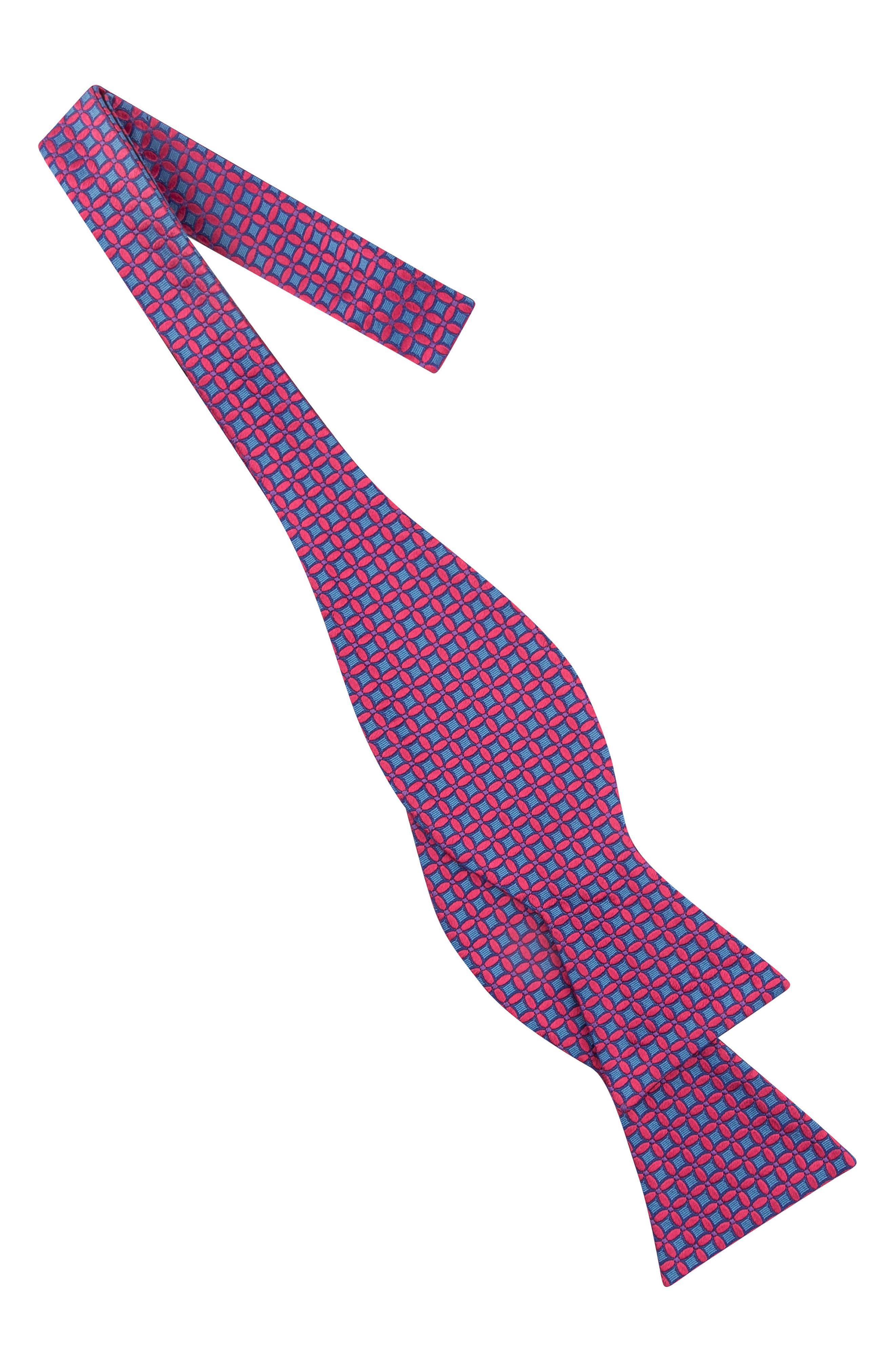 Connect Four Floral Silk Bow Tie,                             Alternate thumbnail 3, color,