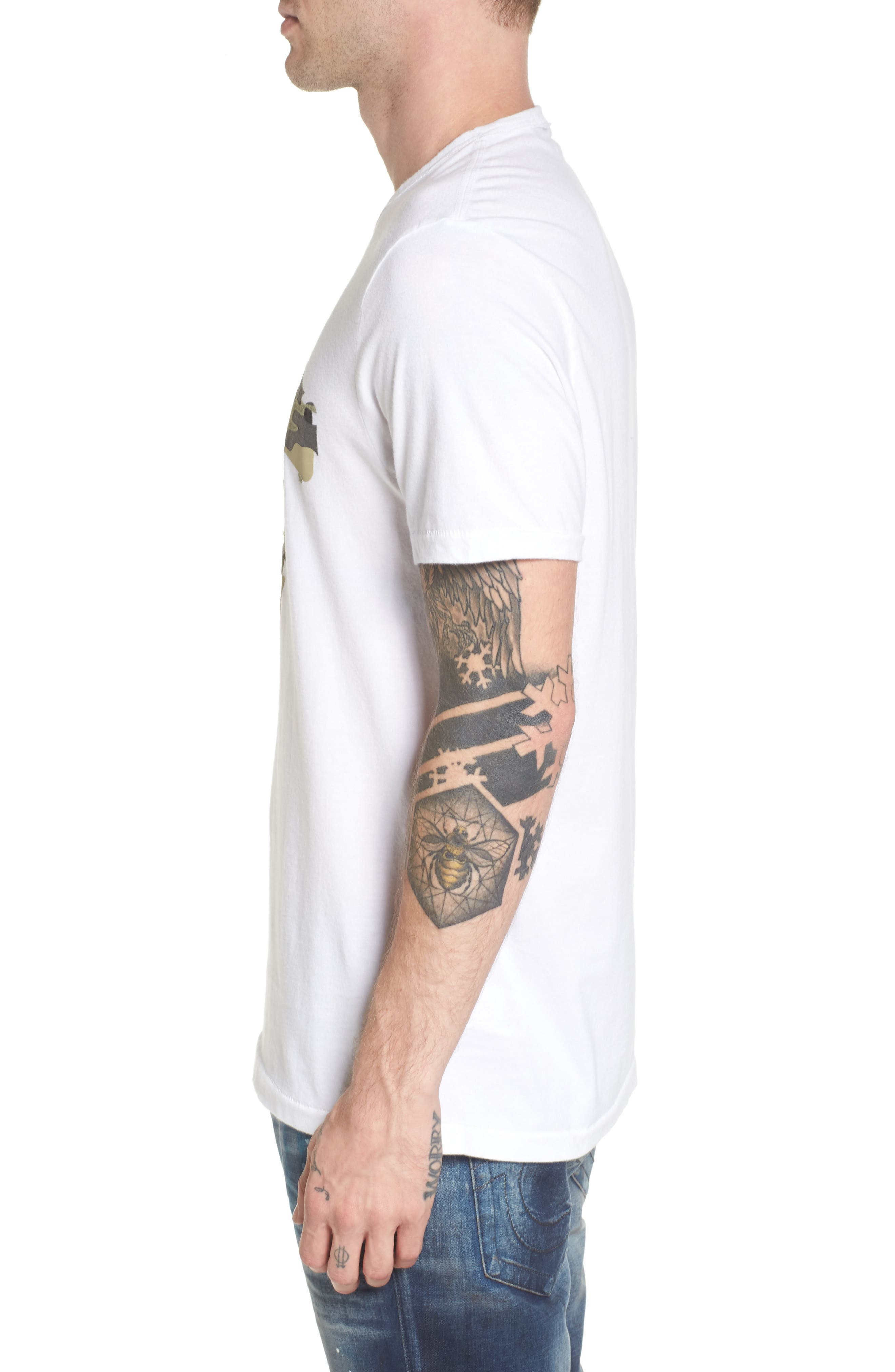 3D Camo Graphic T-Shirt,                             Alternate thumbnail 3, color,