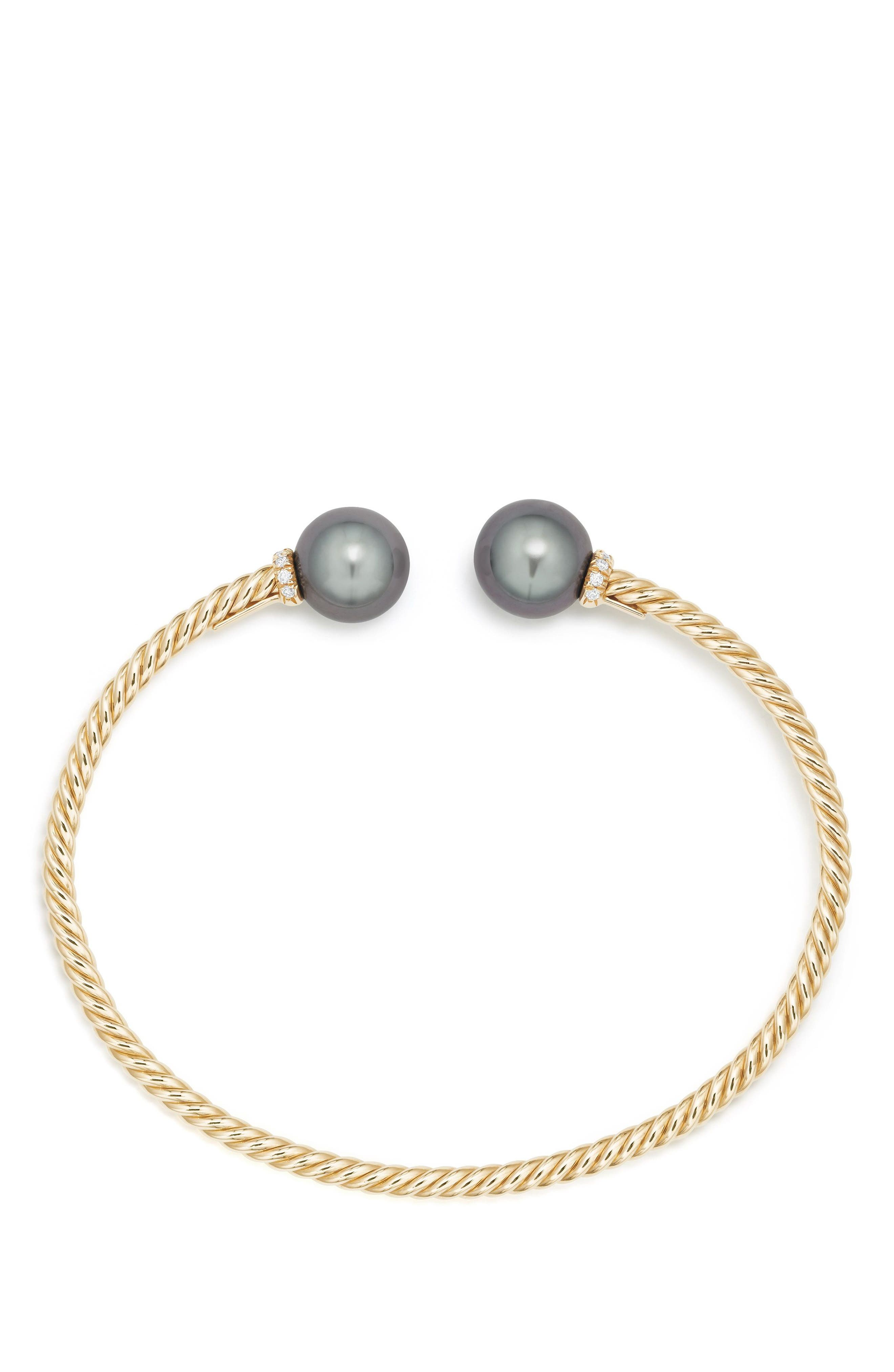 Solari Bead Bracelet with Diamonds,                             Alternate thumbnail 2, color,                             GOLD/ DIAMOND/ GREY PEARL