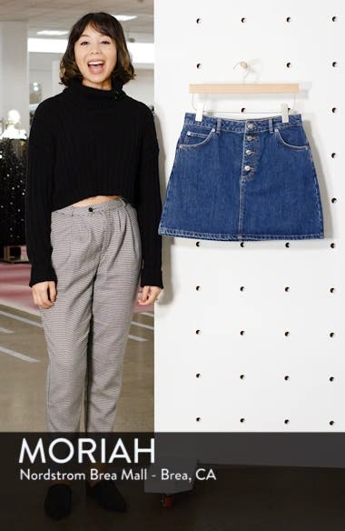 Button Fly Denim Skirt, sales video thumbnail