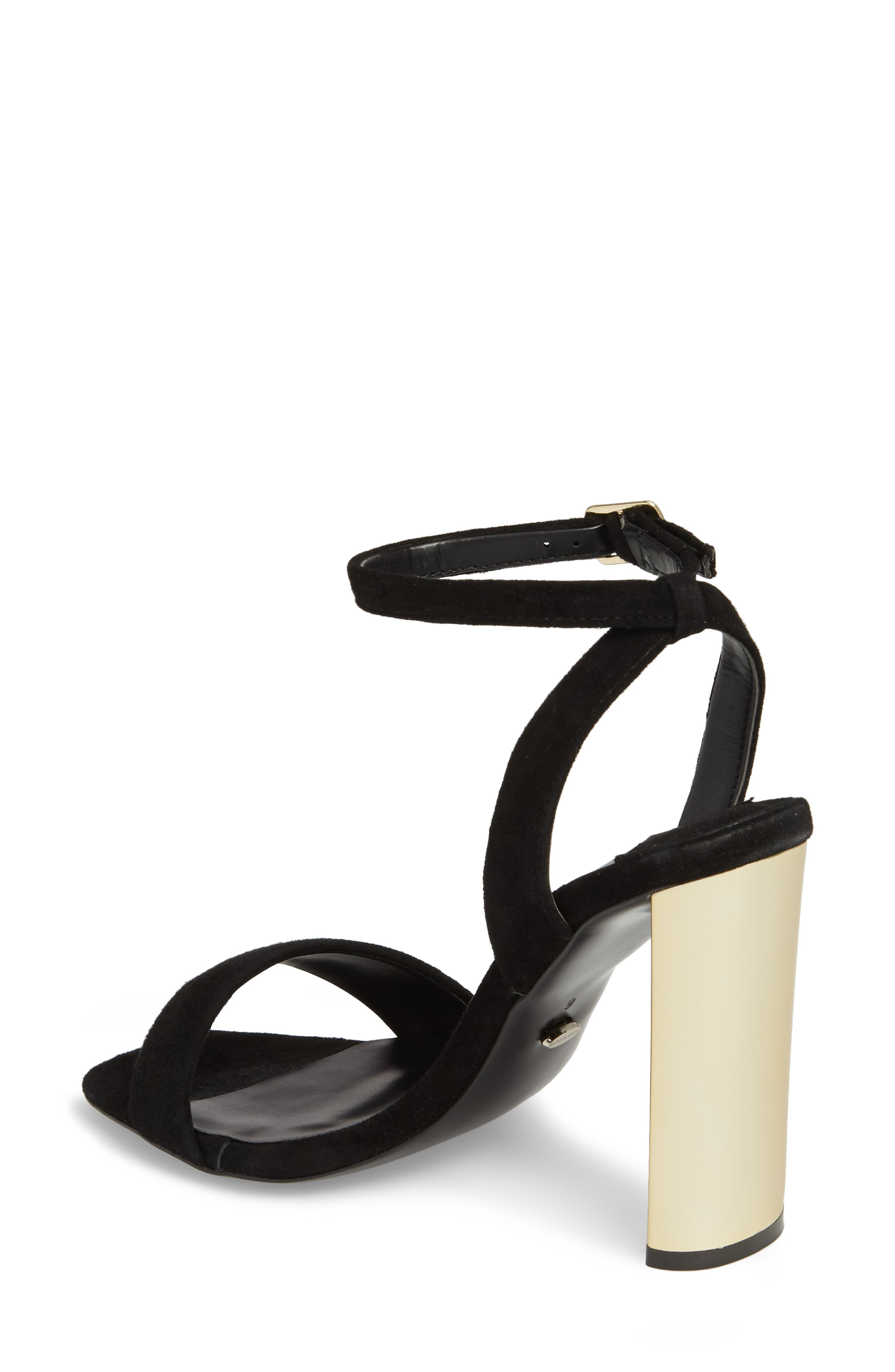 Star Sandal,                             Alternate thumbnail 2, color,                             BLACK SUEDE
