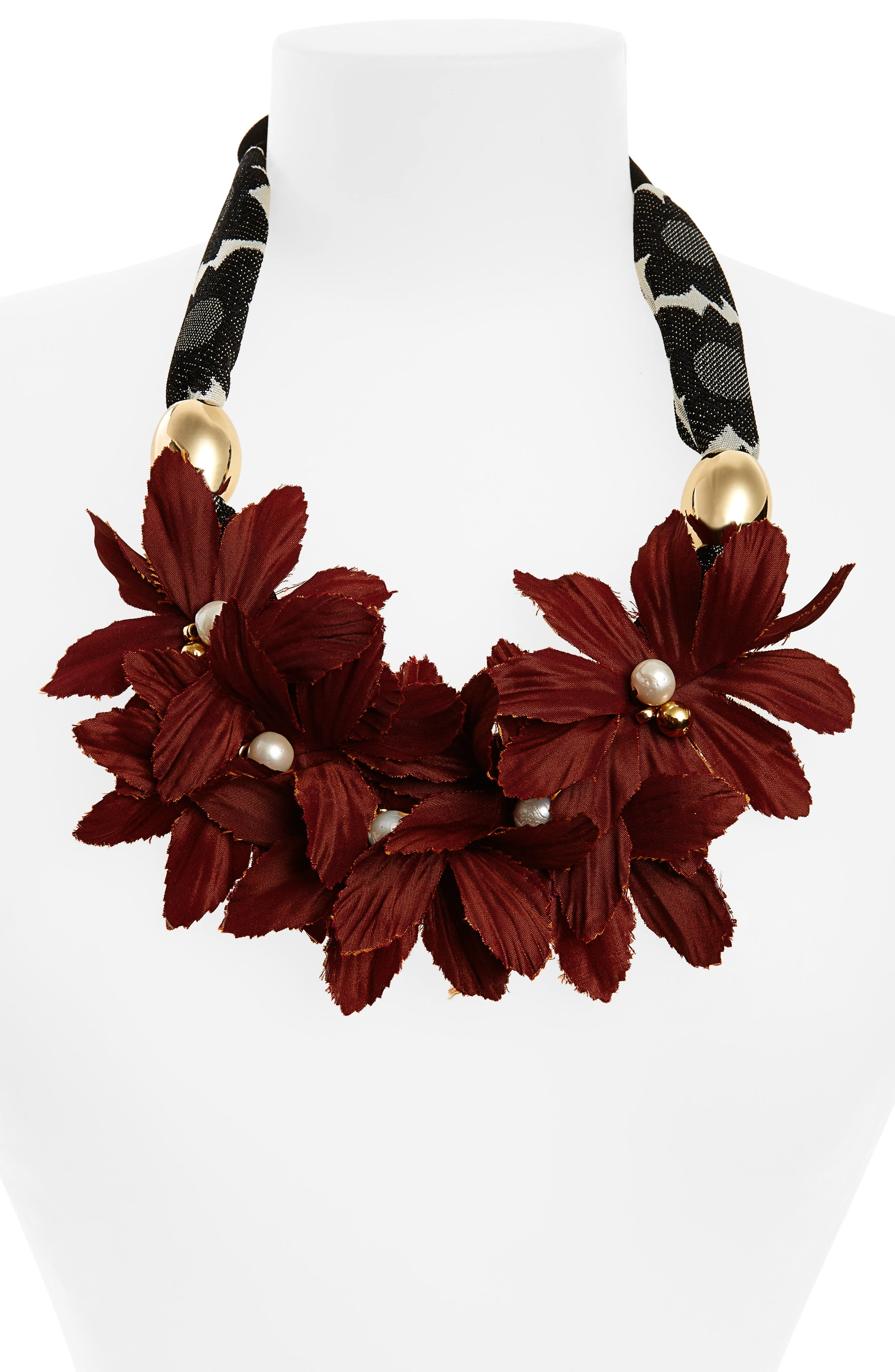 Samburo Floral Collar Necklace,                             Alternate thumbnail 2, color,                             600