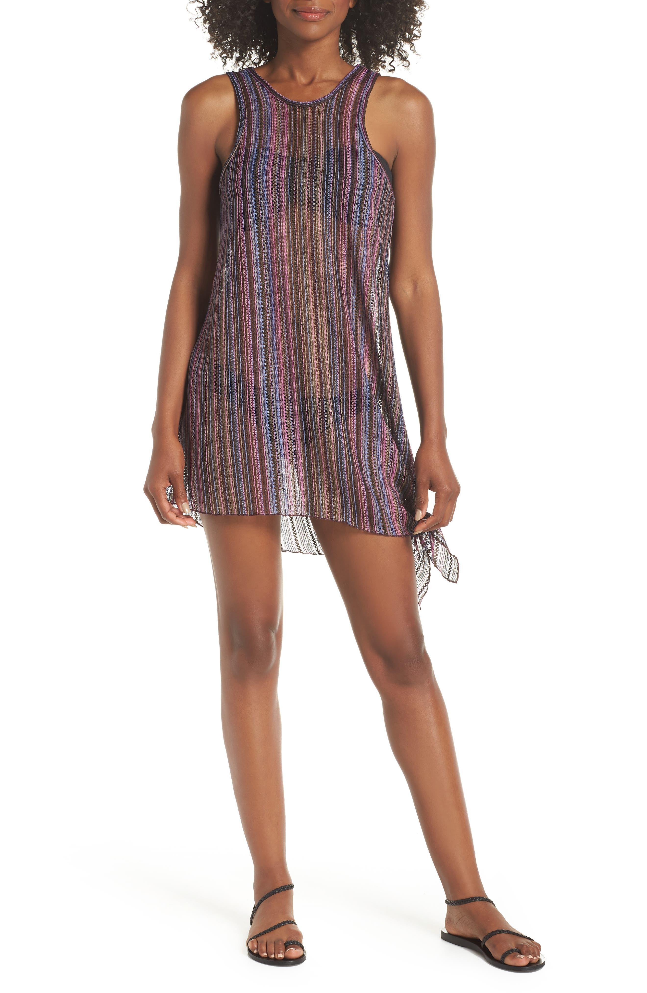 Becca Pierside Knot Cover-Up Dress, Purple