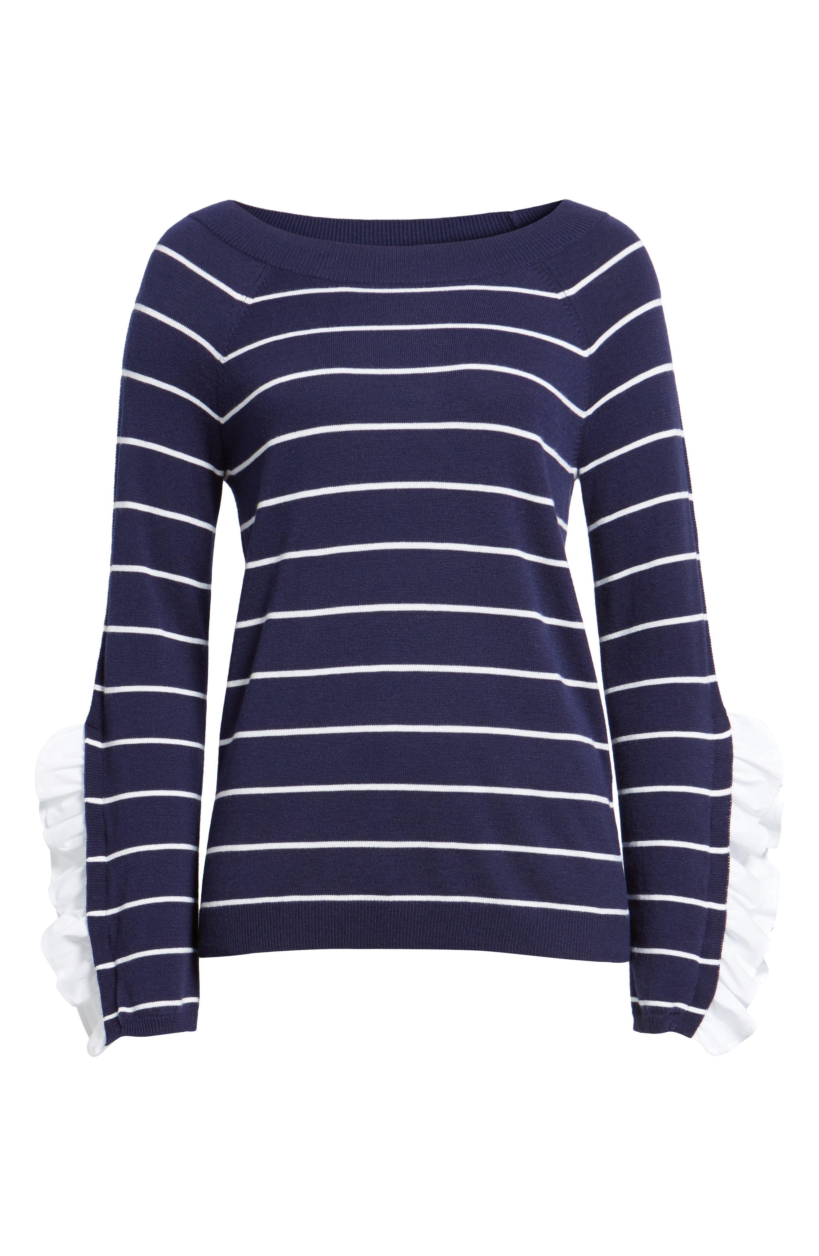 Ruffle Sleeve Sweater,                             Alternate thumbnail 23, color,