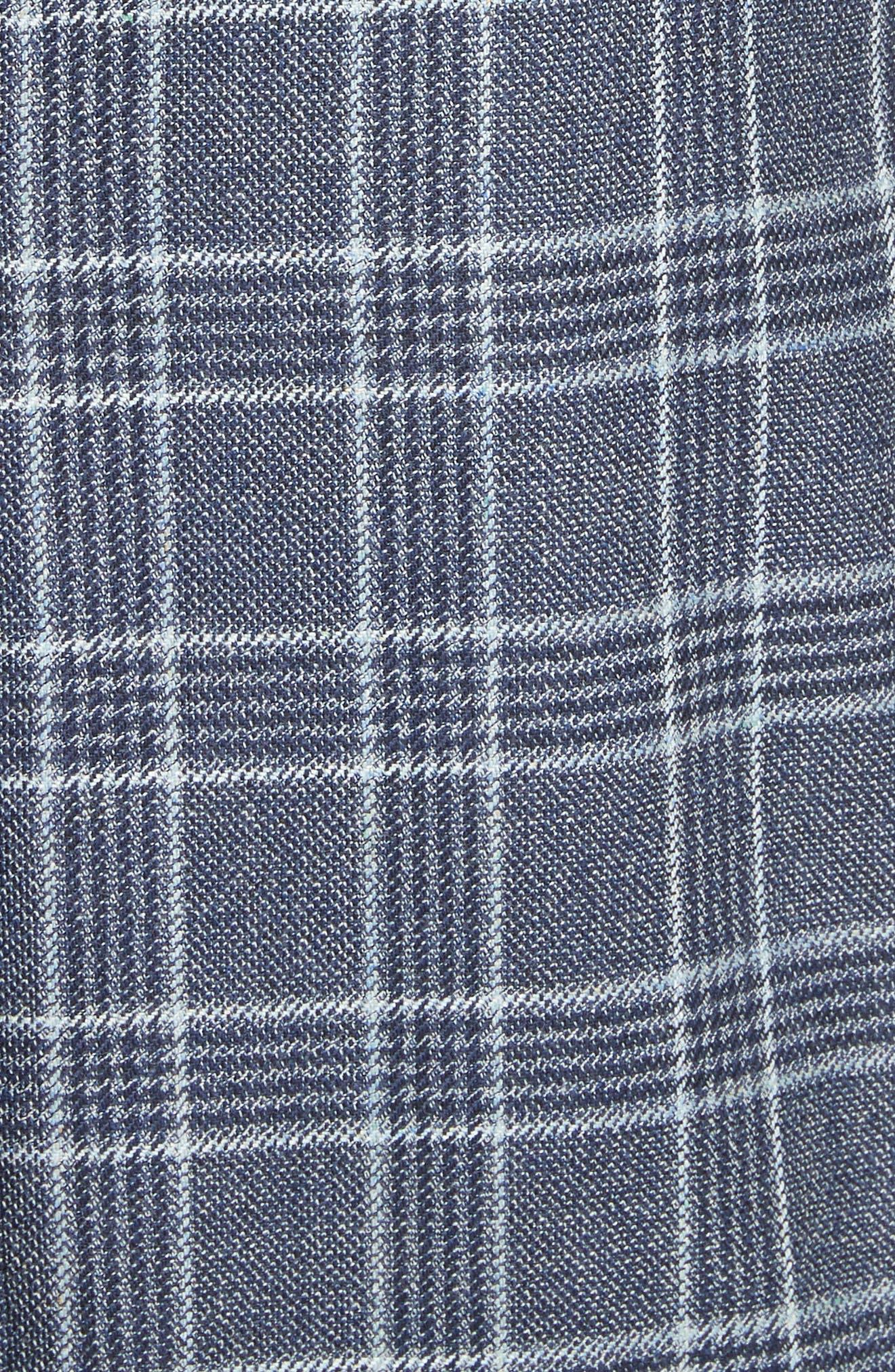 G Line Trim Fit Plaid Silk & Wool Sport Coat,                             Alternate thumbnail 6, color,                             459