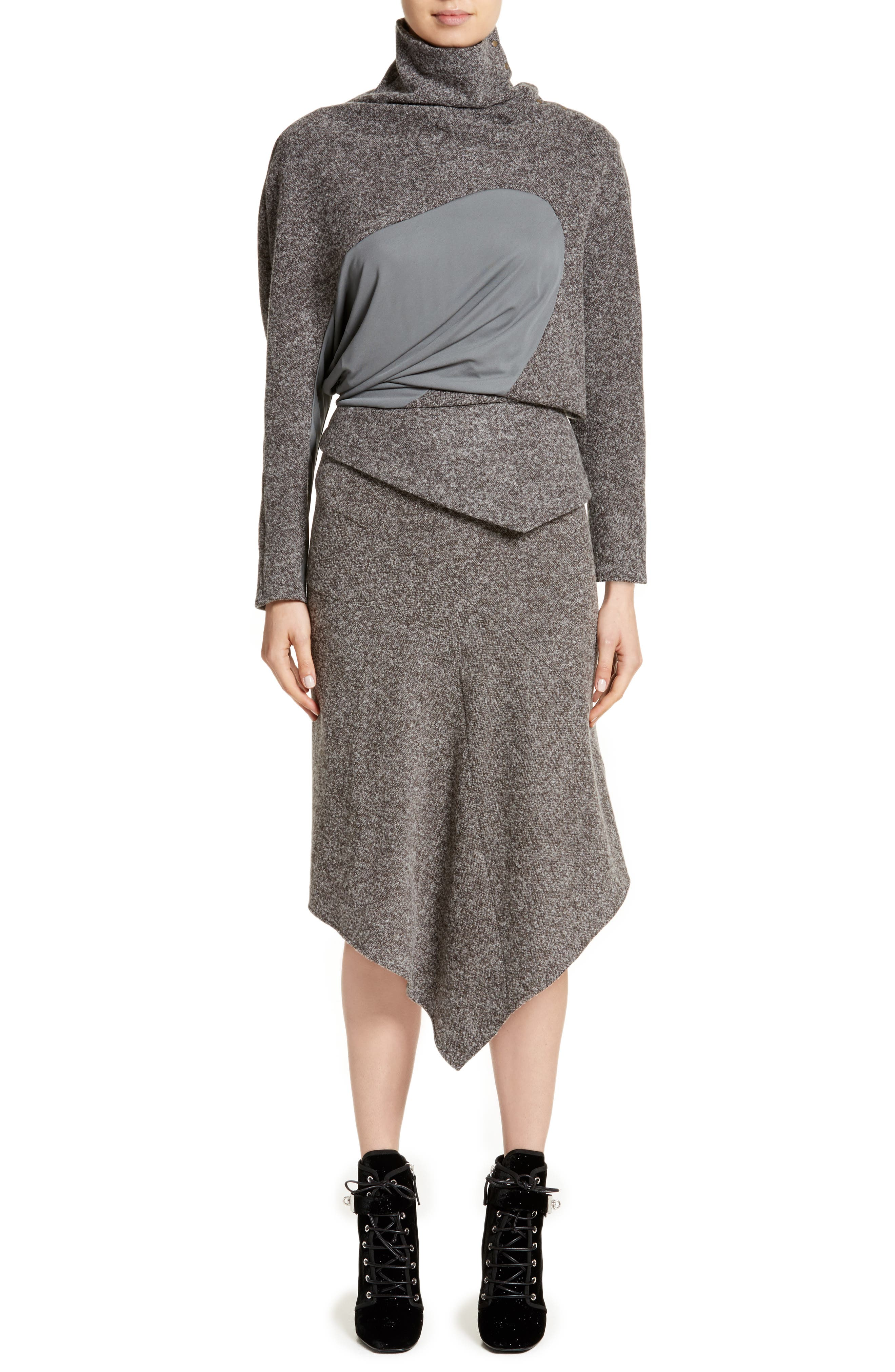 Galaxy Tweed Asymmetrical Skirt,                             Alternate thumbnail 7, color,